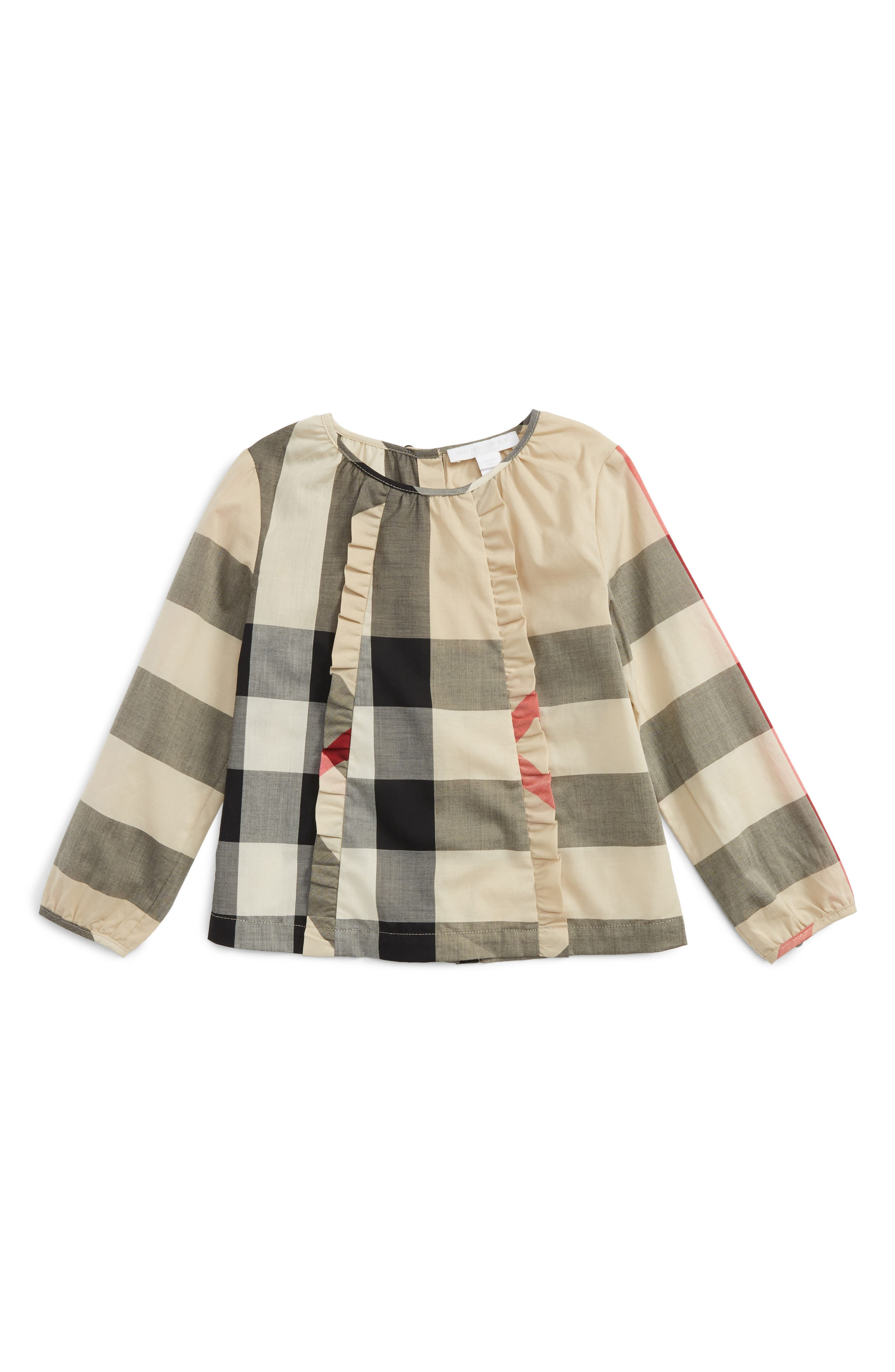 Alternate Image 1 Selected - Burberry Agatha Check Print Top (Toddler Girls)