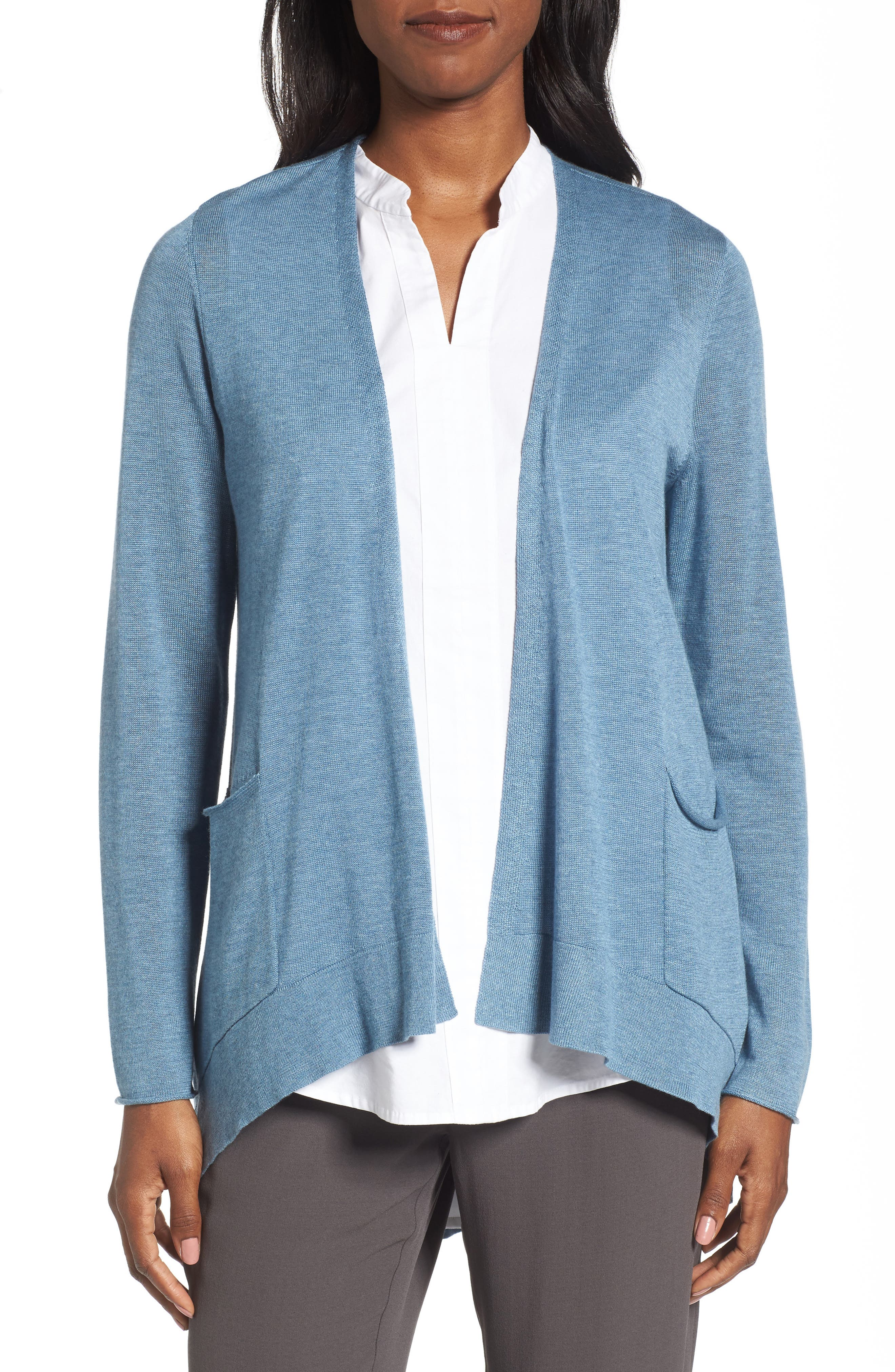 Alternate Image 1 Selected - Eileen Fisher Slouchy Tencel® Blend Cardigan