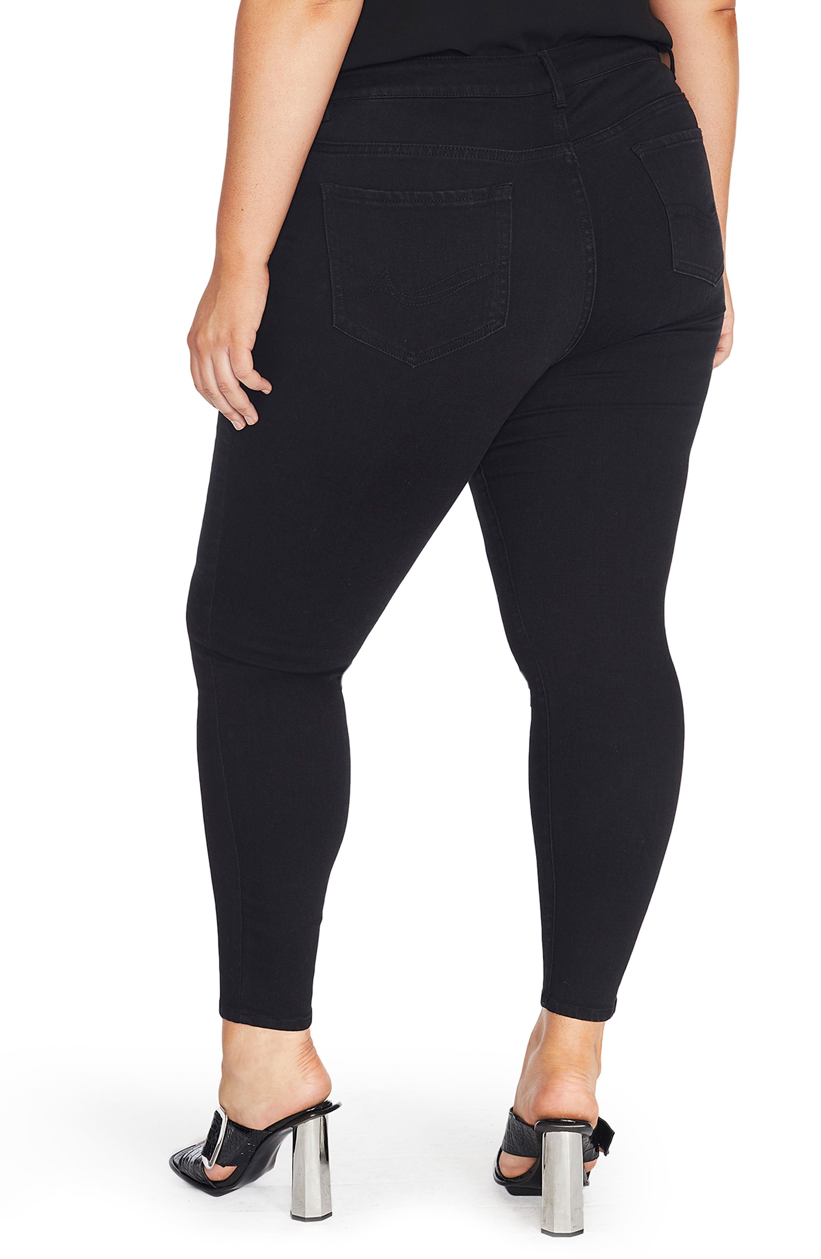 Alternate Image 3  - REBEL WILSON X ANGELS The Pin Up Super Skinny Jeans (Plus Size)