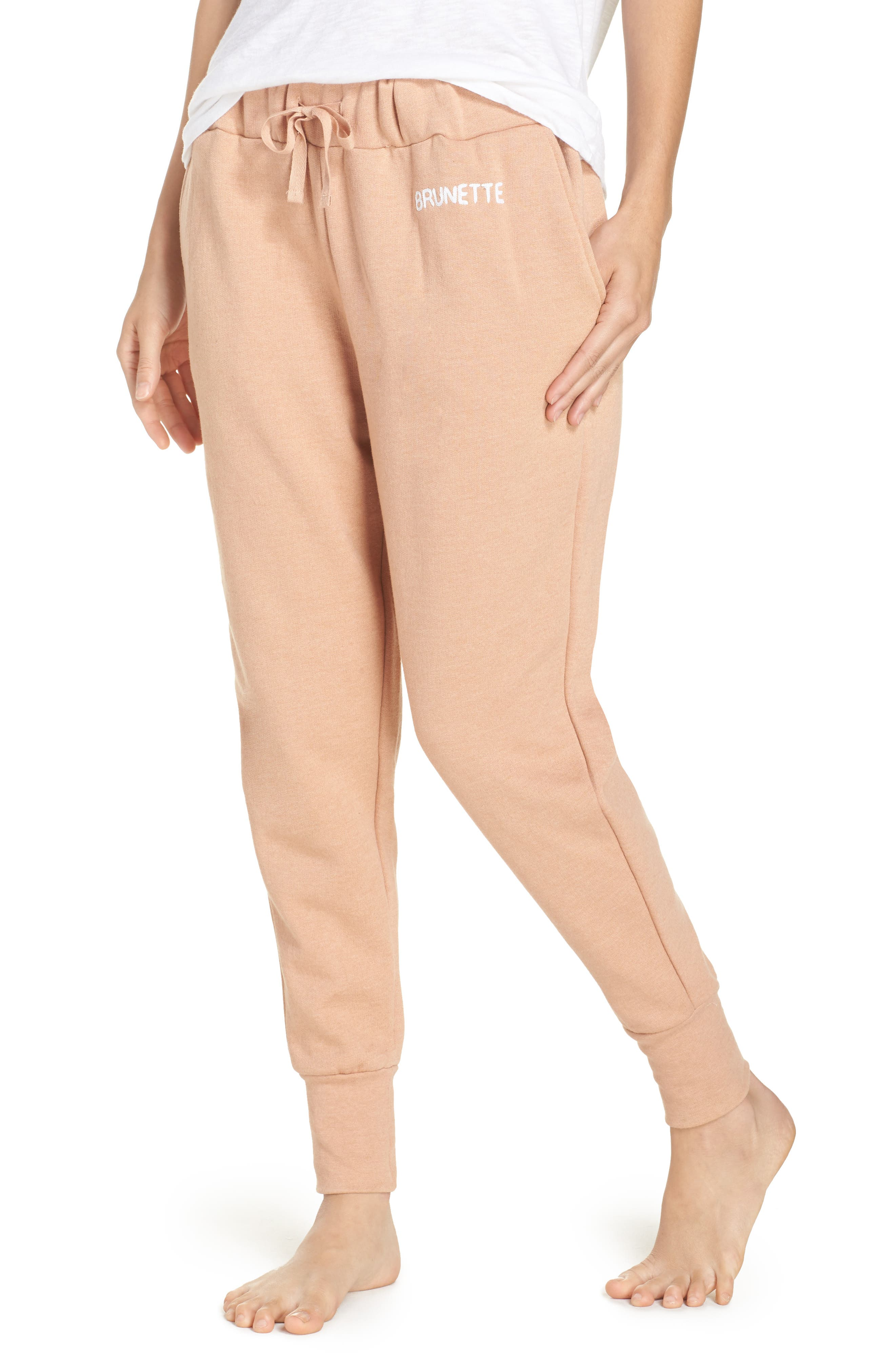Brunette Jogger Pants,                         Main,                         color, Rose