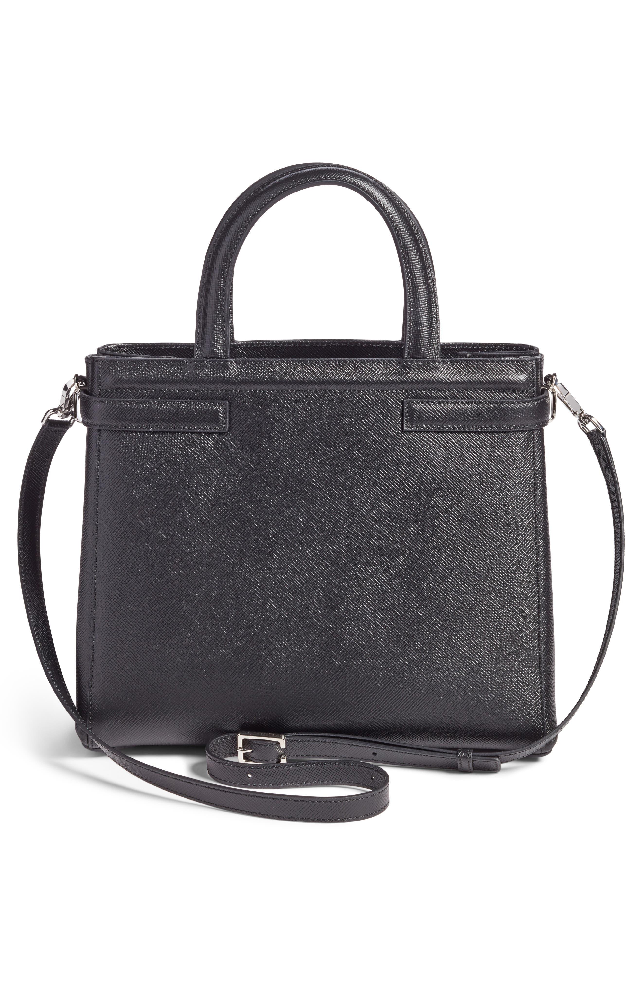 Small Meline Evolution Leather Bag,                             Alternate thumbnail 2, color,                             Black