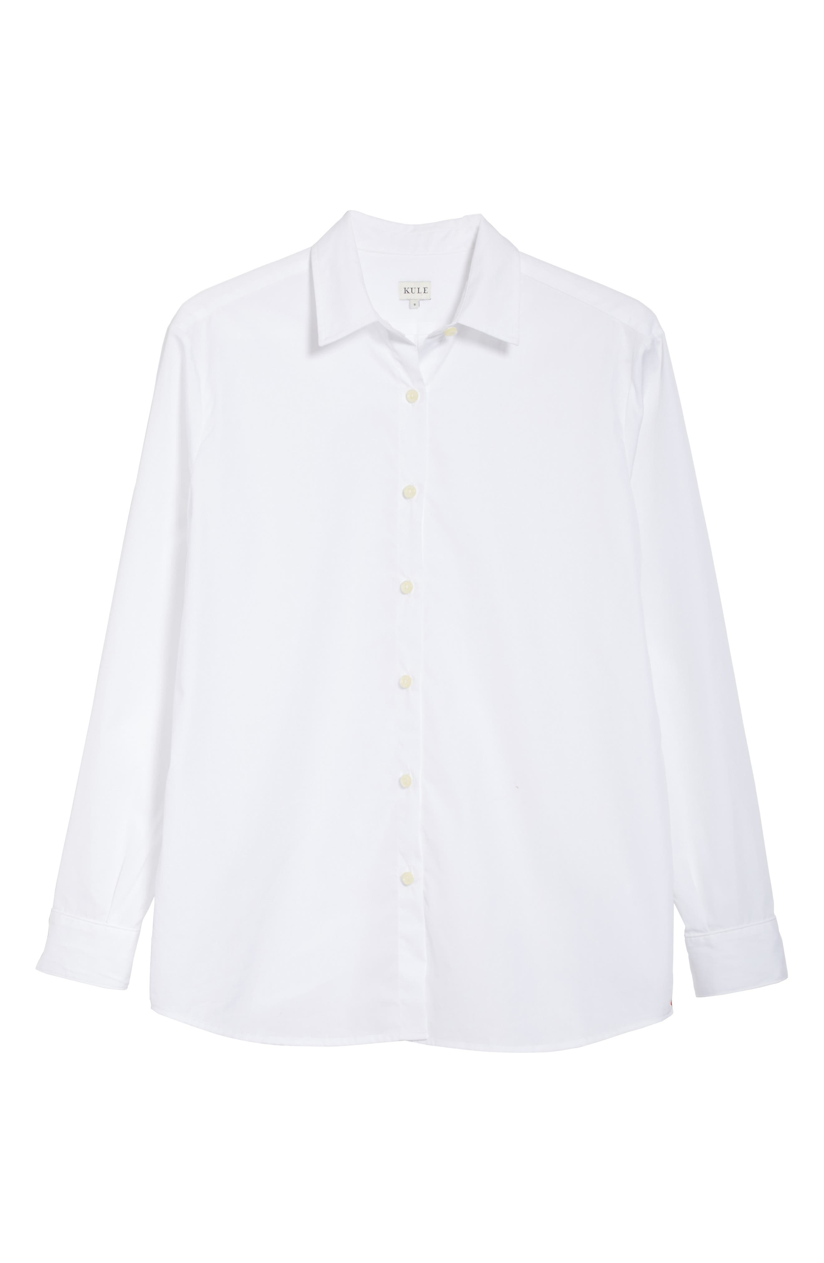 The Hutton Cotton Poplin Shirt,                             Alternate thumbnail 6, color,                             White