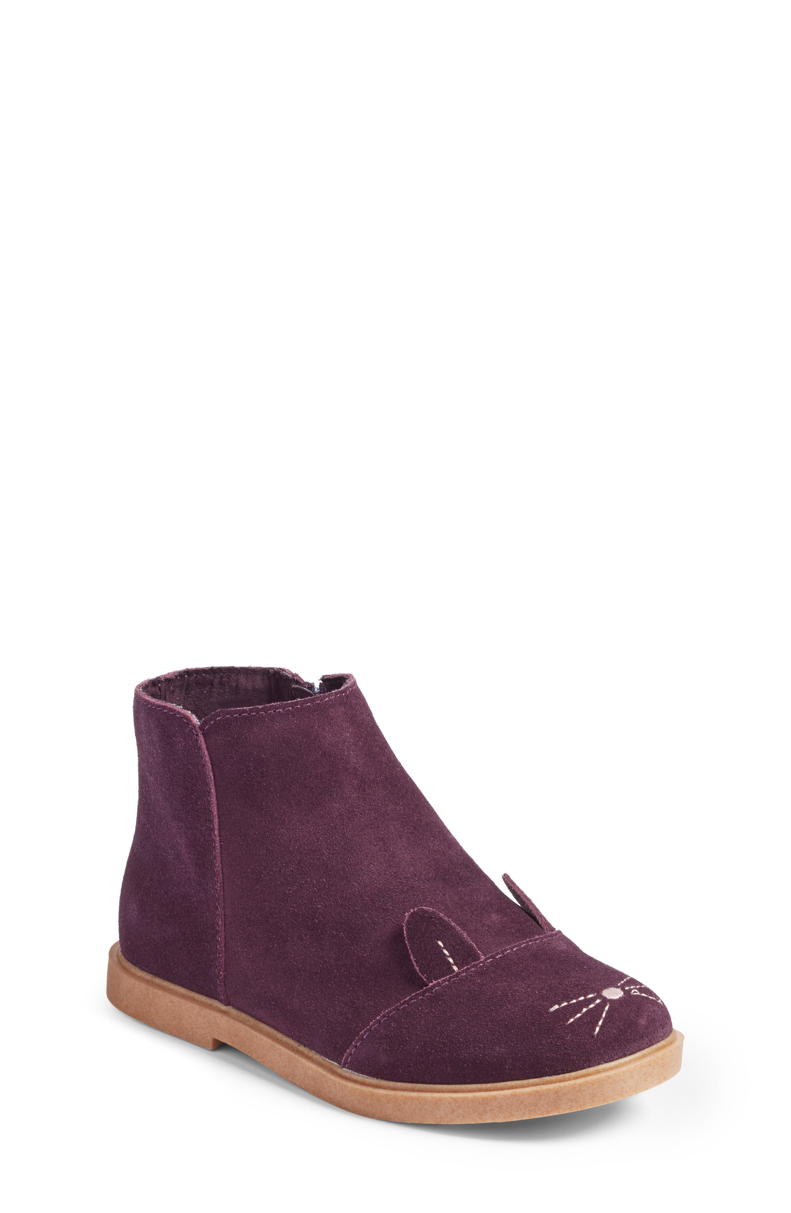 Bunny Boot,                         Main,                         color, Berry Leather