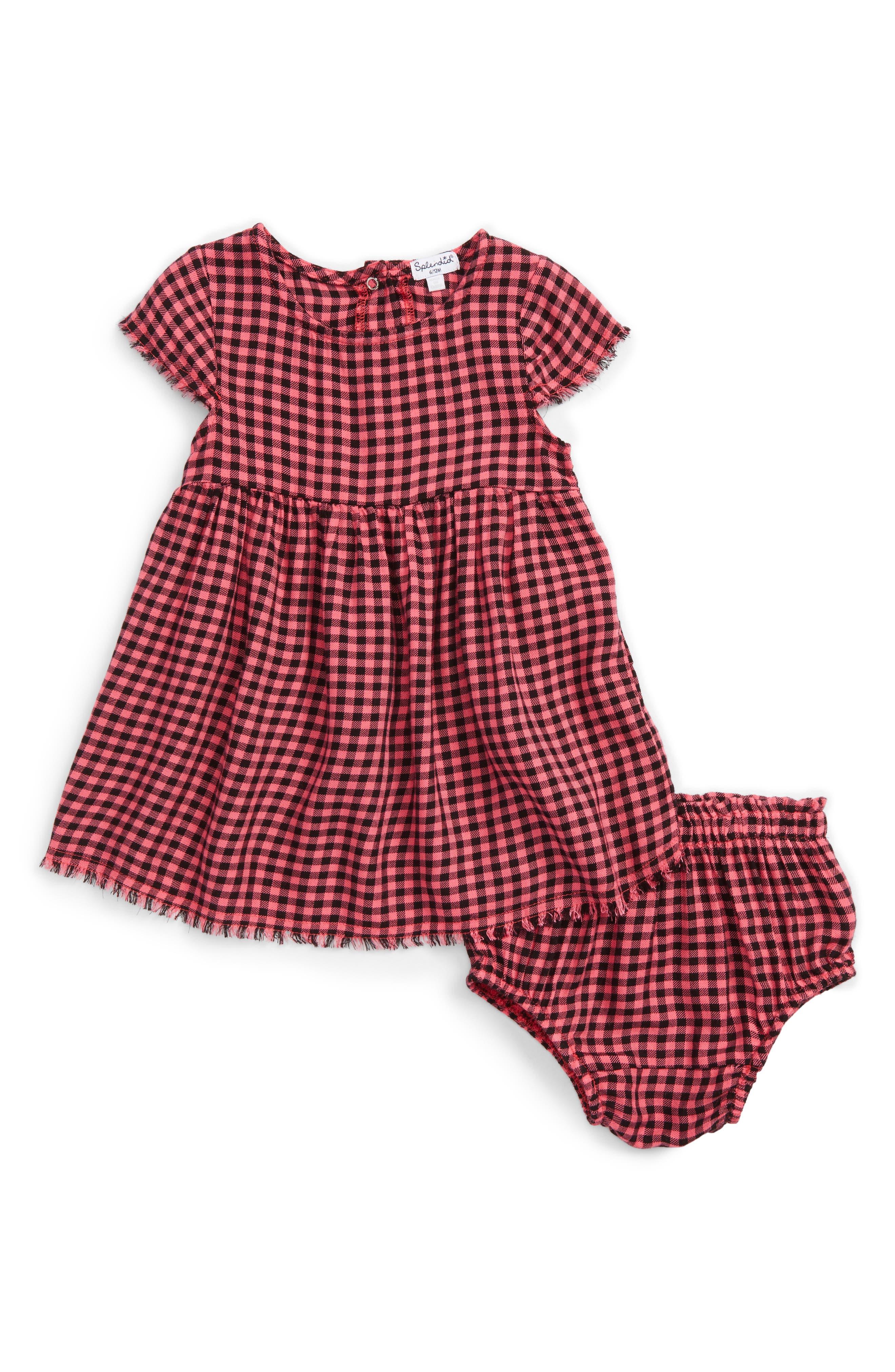 Splendid Plaid Dress Baby Girls