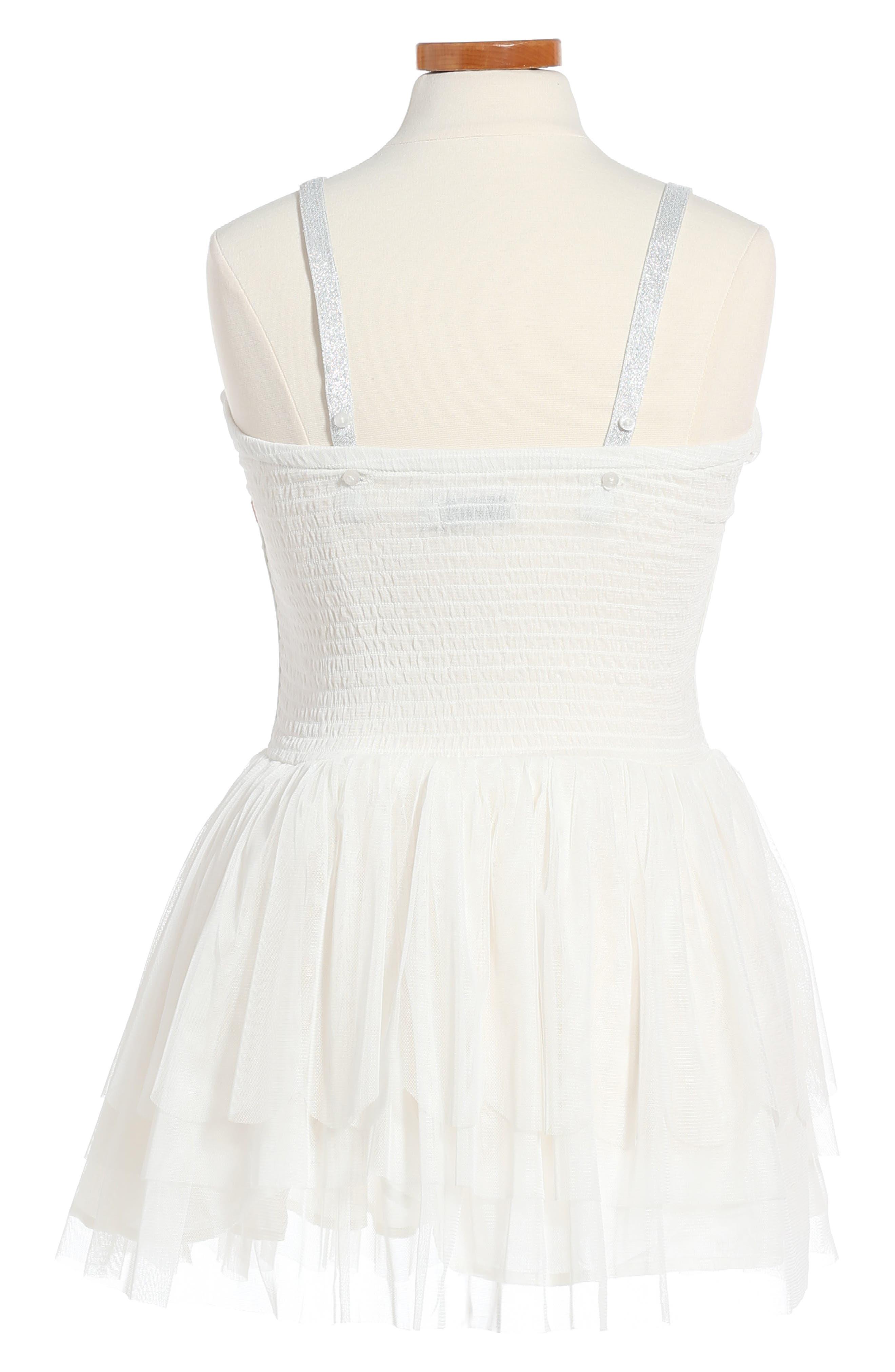 Alternate Image 3  - Stella McCartney Kids Bonny Winged Swan Tulle Dress (Big Girl)