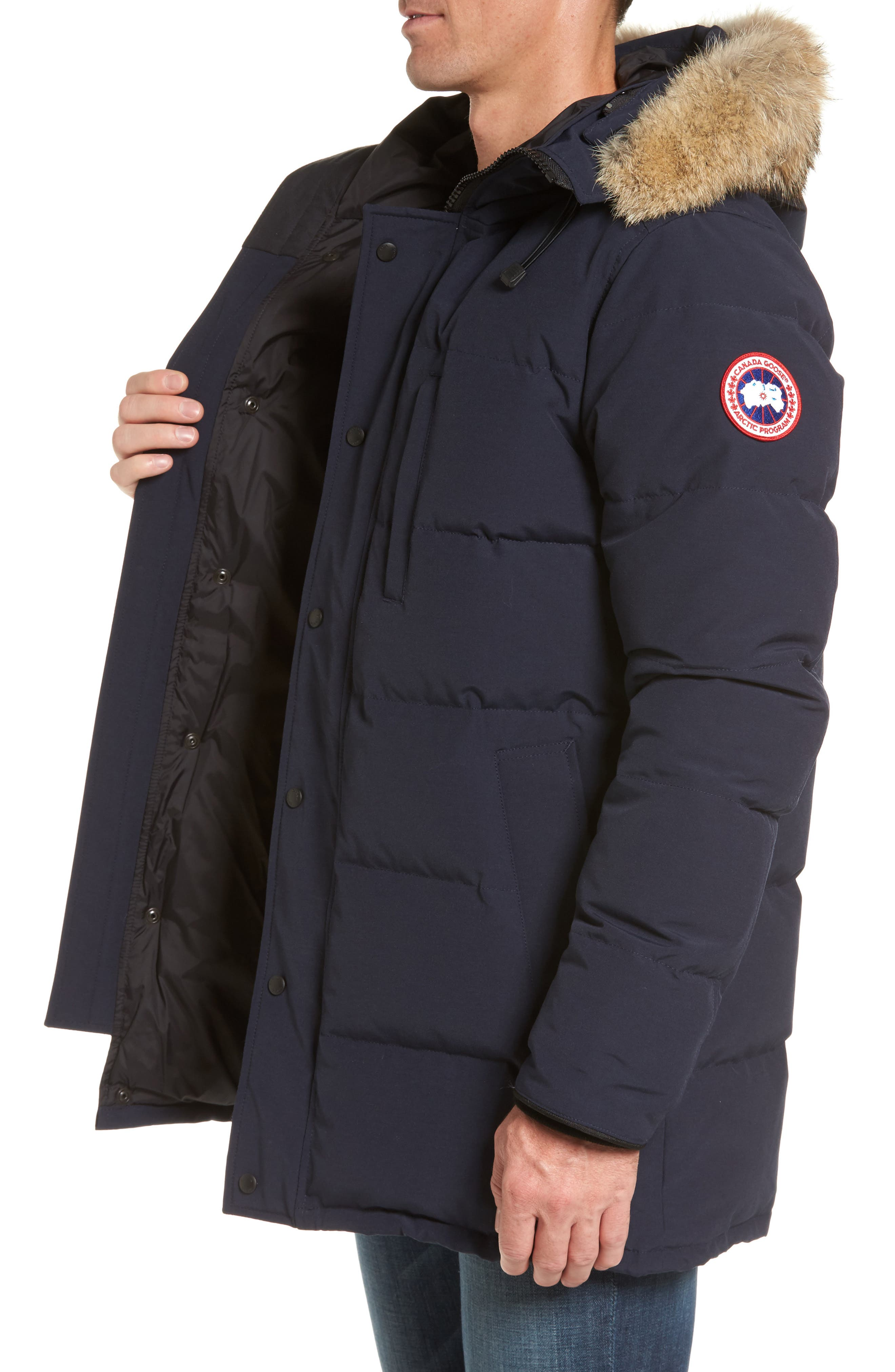 Alternate Image 3  - Canada Goose 'Carson' Slim Fit Hooded Packable Parka with Genuine Coyote Fur Trim