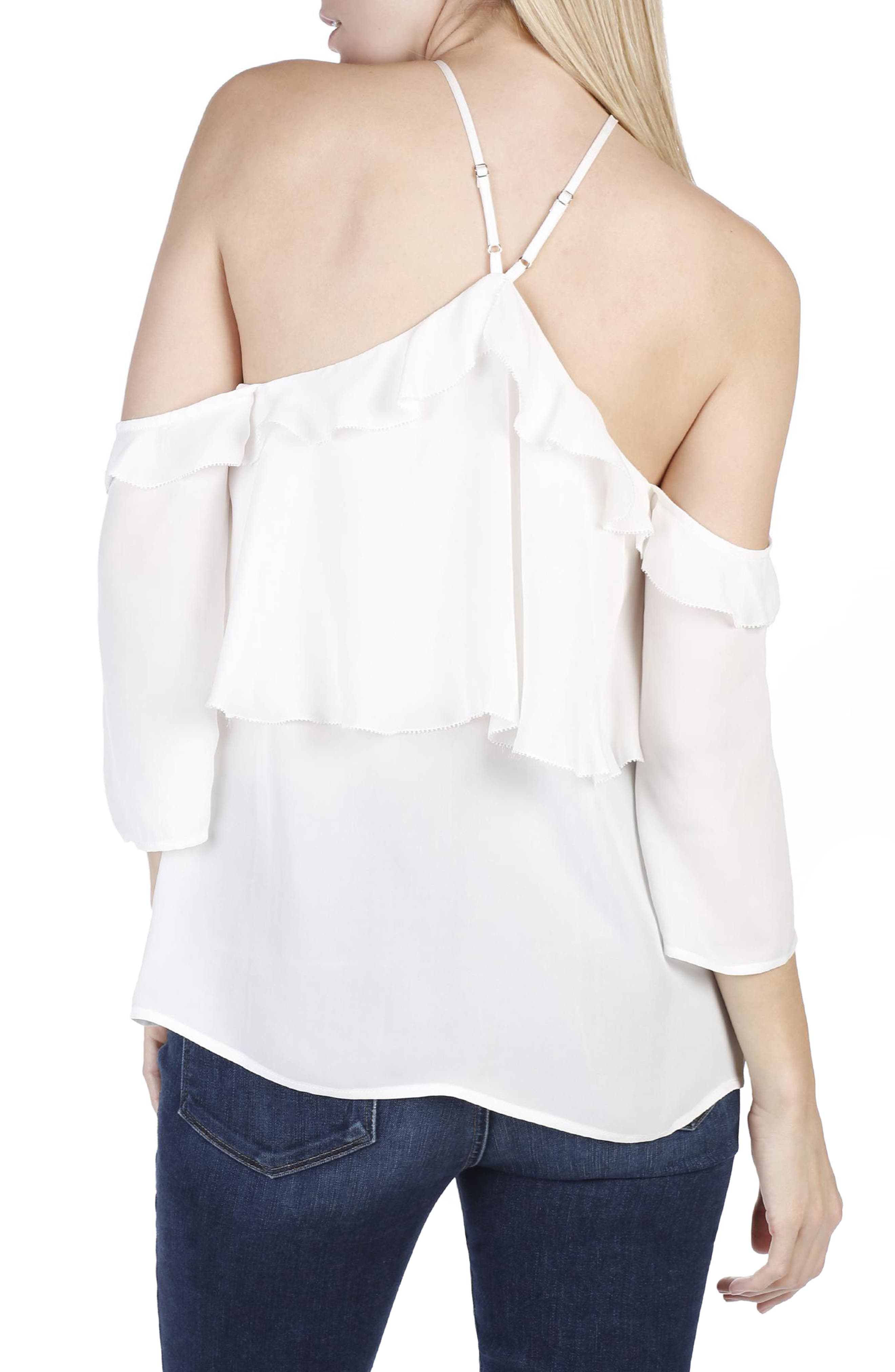 Alternate Image 3  - PAIGE Luciana Off the Shoulder Silk Top