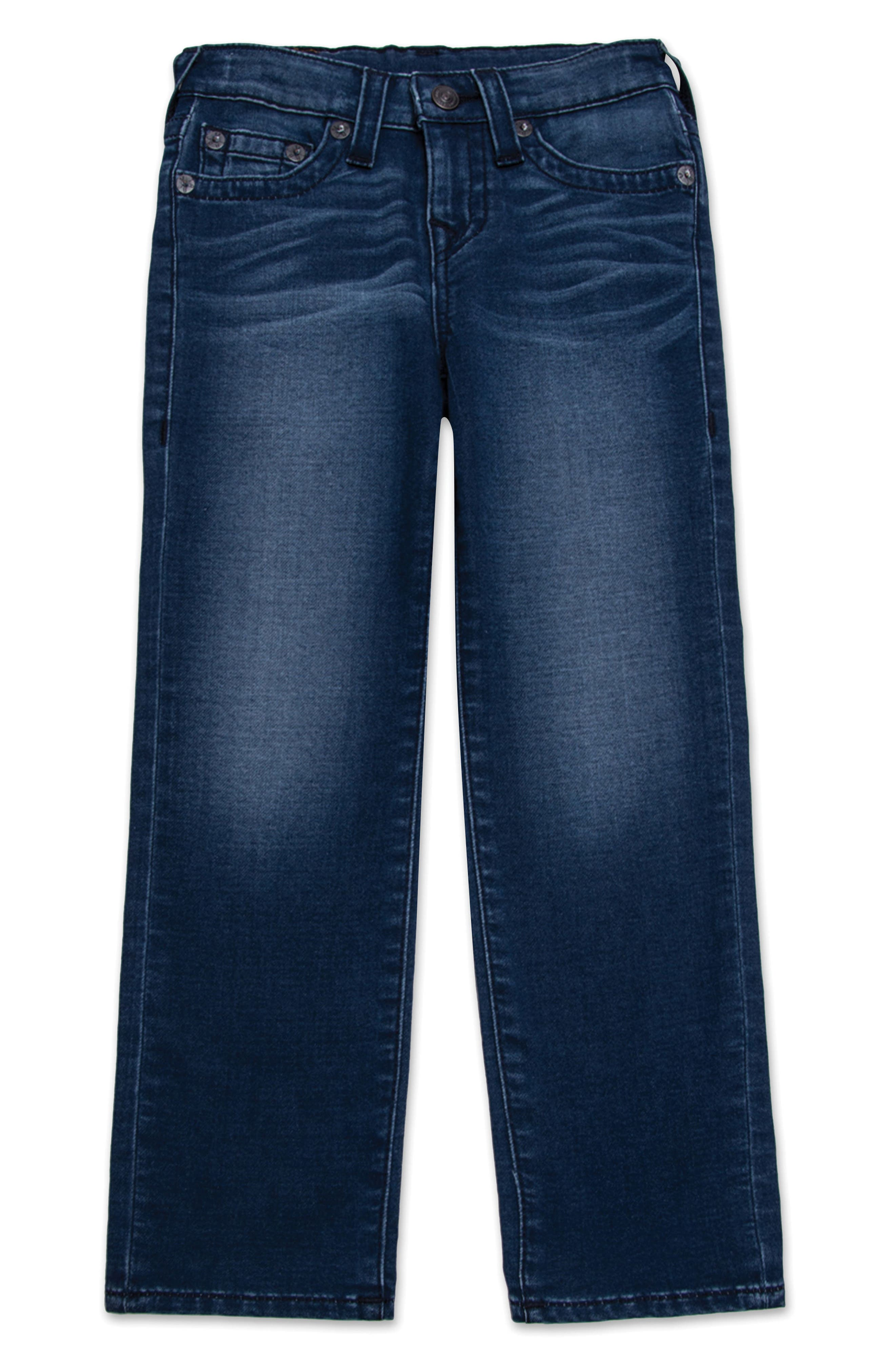 Alternate Image 1 Selected - True Religion Brand Jeans Geno Single End Straight Leg Jeans (Toddler Boys & Little Boys)