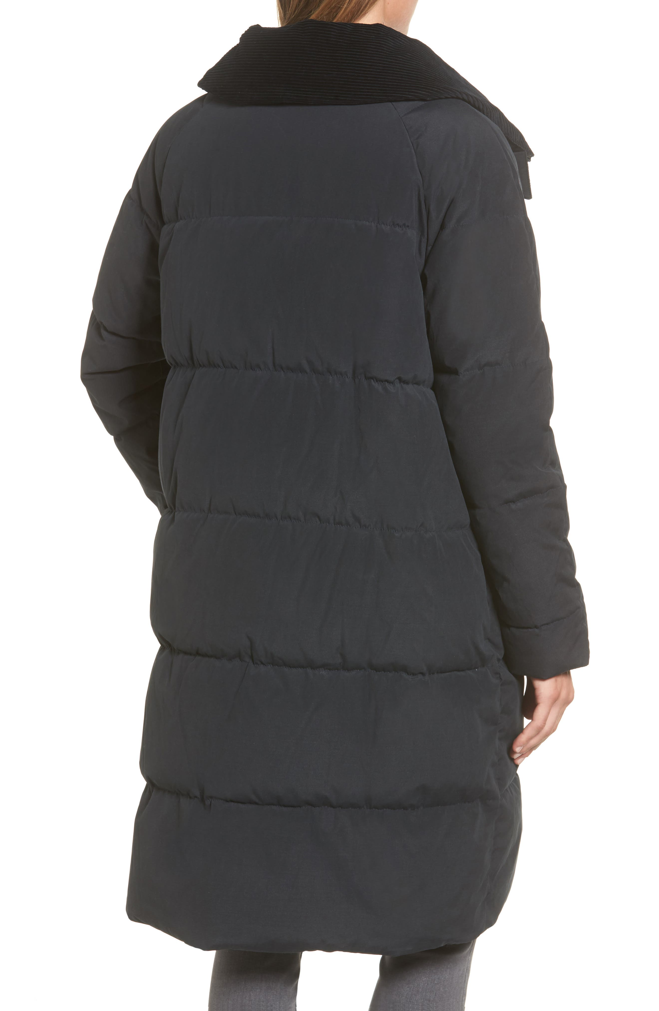 Leck Water Resistant Baffle Quilted Coat,                             Alternate thumbnail 2, color,                             Navy