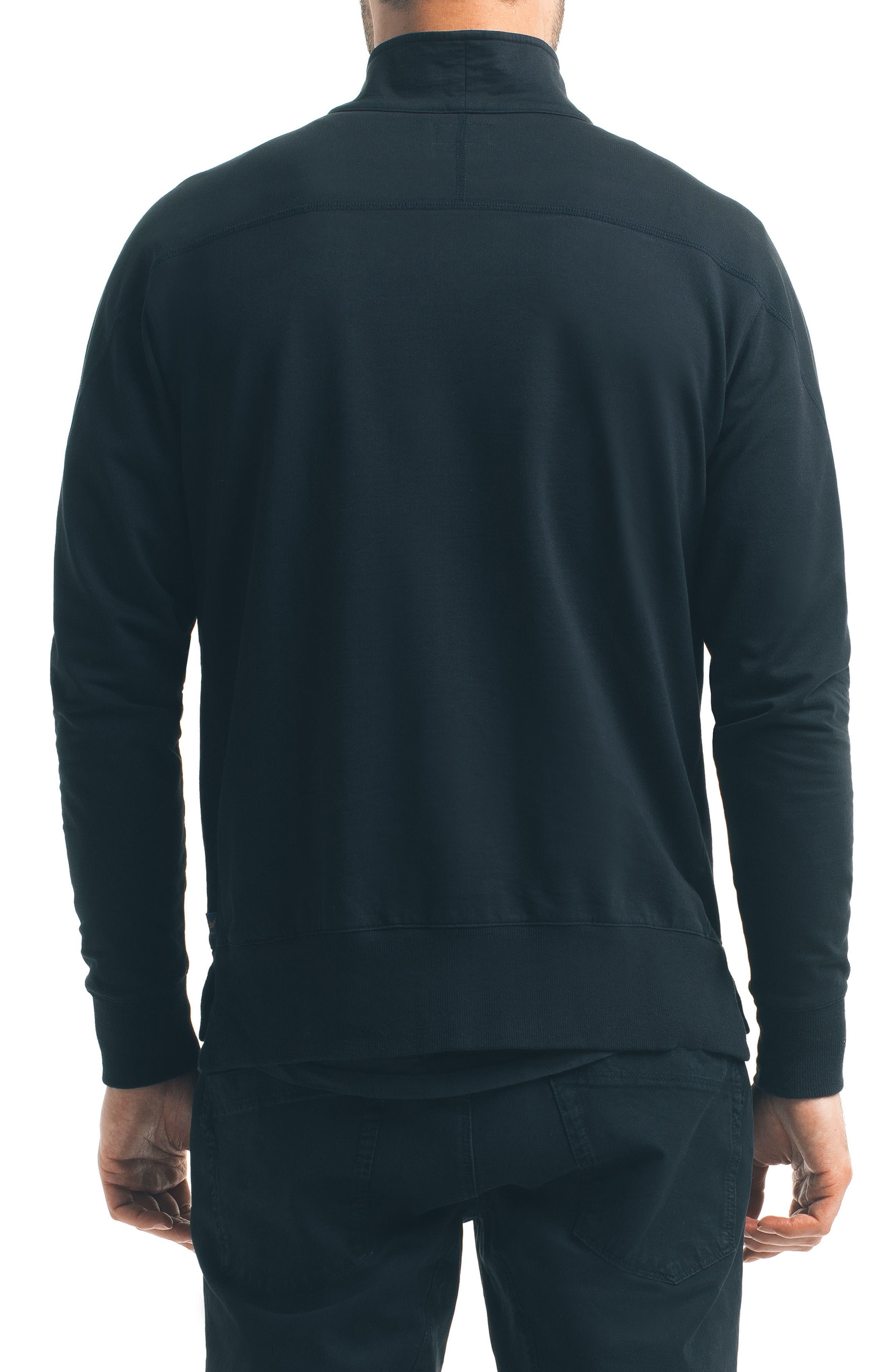 Slim Pro Quarter Zip Pullover,                             Alternate thumbnail 2, color,                             Black
