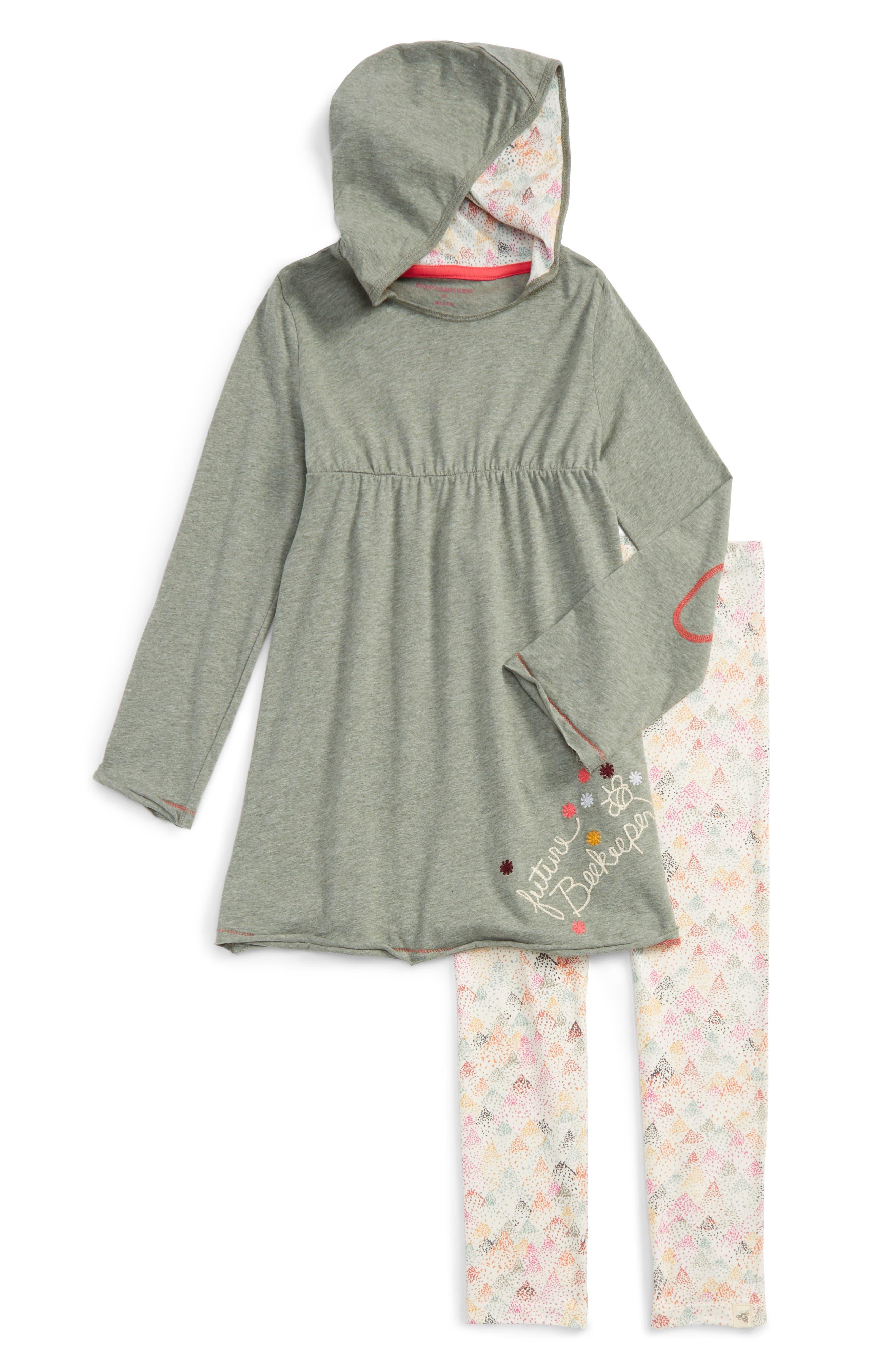 Burt's Bees Baby Organic Cotton Hooded Dress & Leggings Set (Toddler Girls & Little Girls)