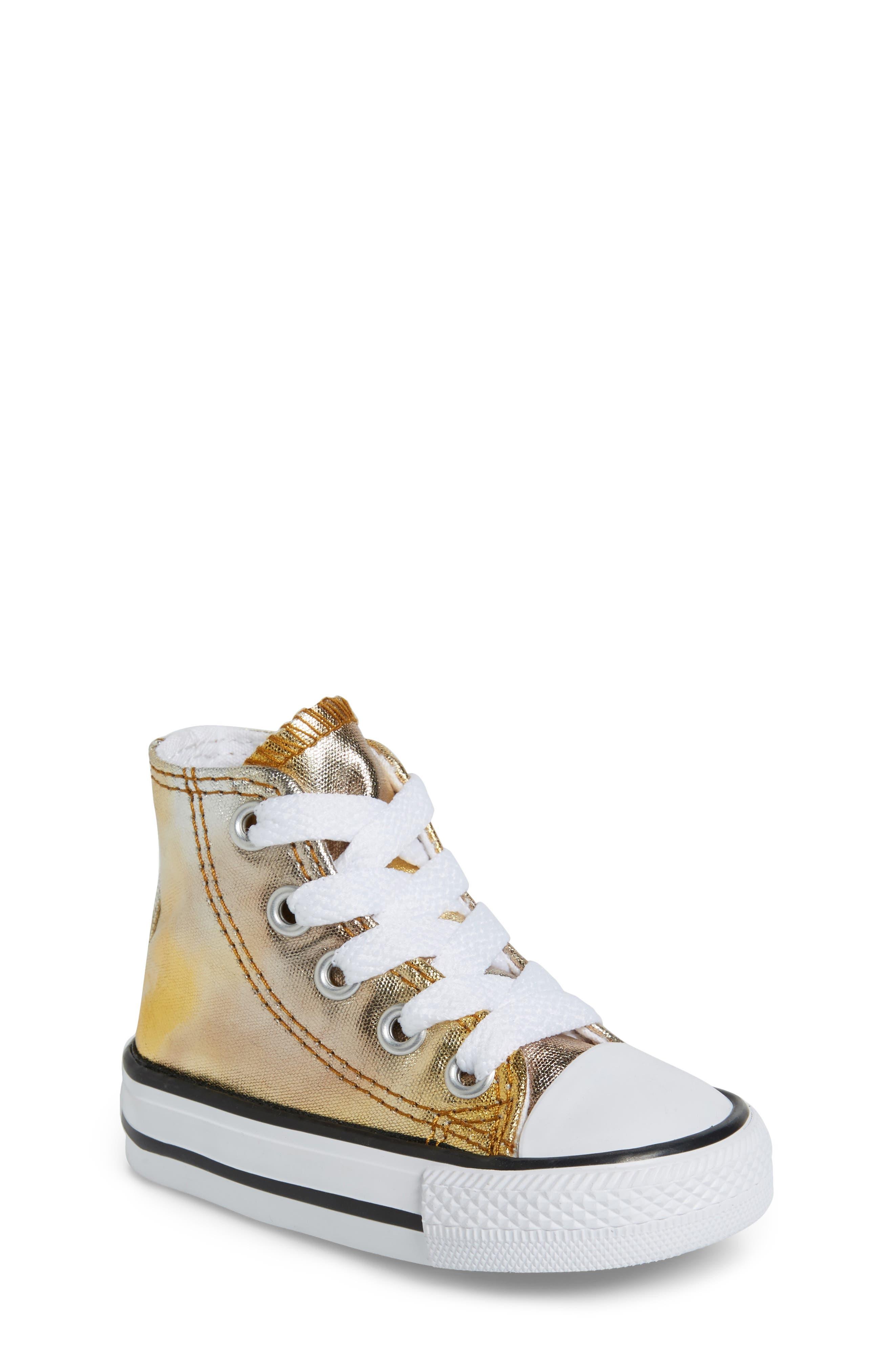 Converse Chuck Taylor® All Star® Metallic High Top Sneaker (Baby, Walker, Toddler & Little Kid)