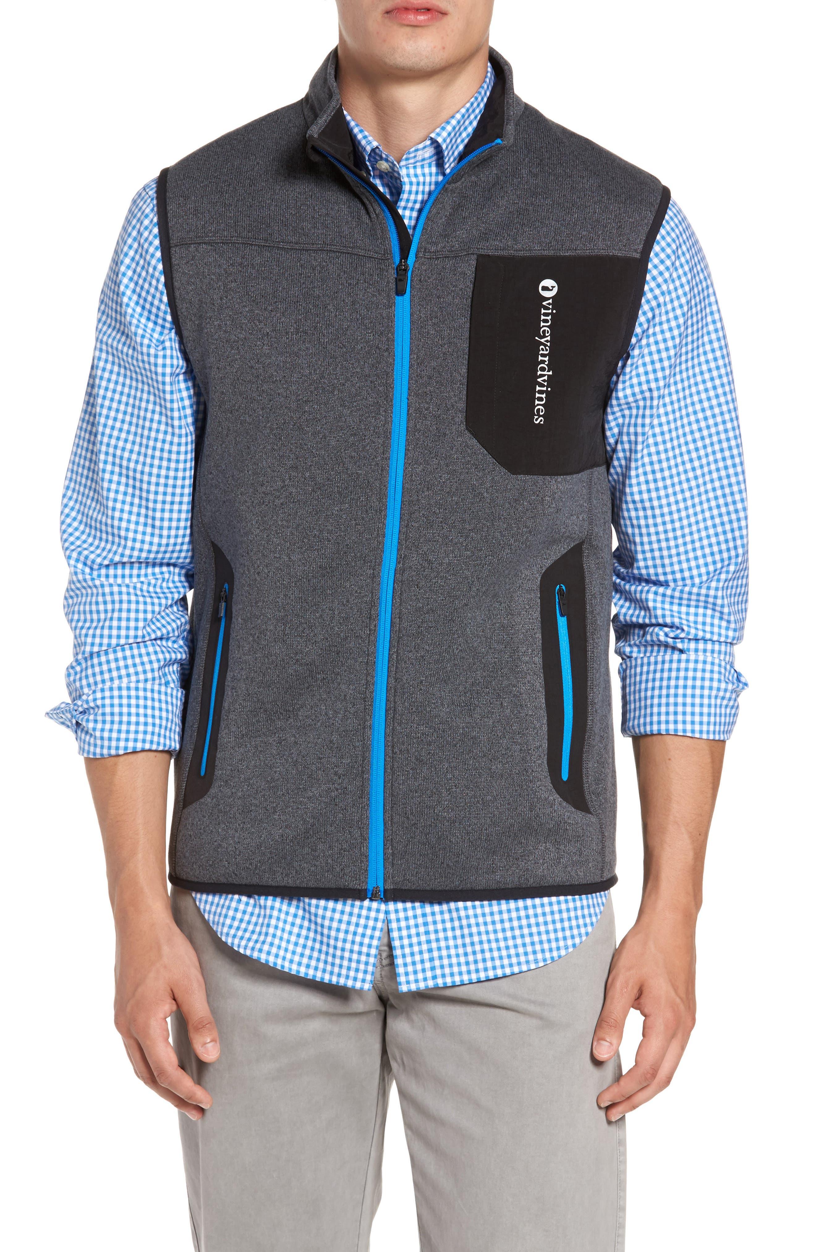 Tech Sweater Fleece Vest,                             Alternate thumbnail 3, color,                             Charcoal