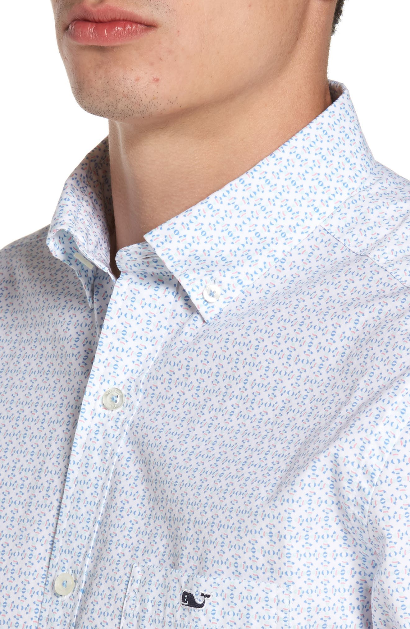 Alternate Image 4  - vineyard vines Fish Check Tucker Slim Fit Sport Shirt
