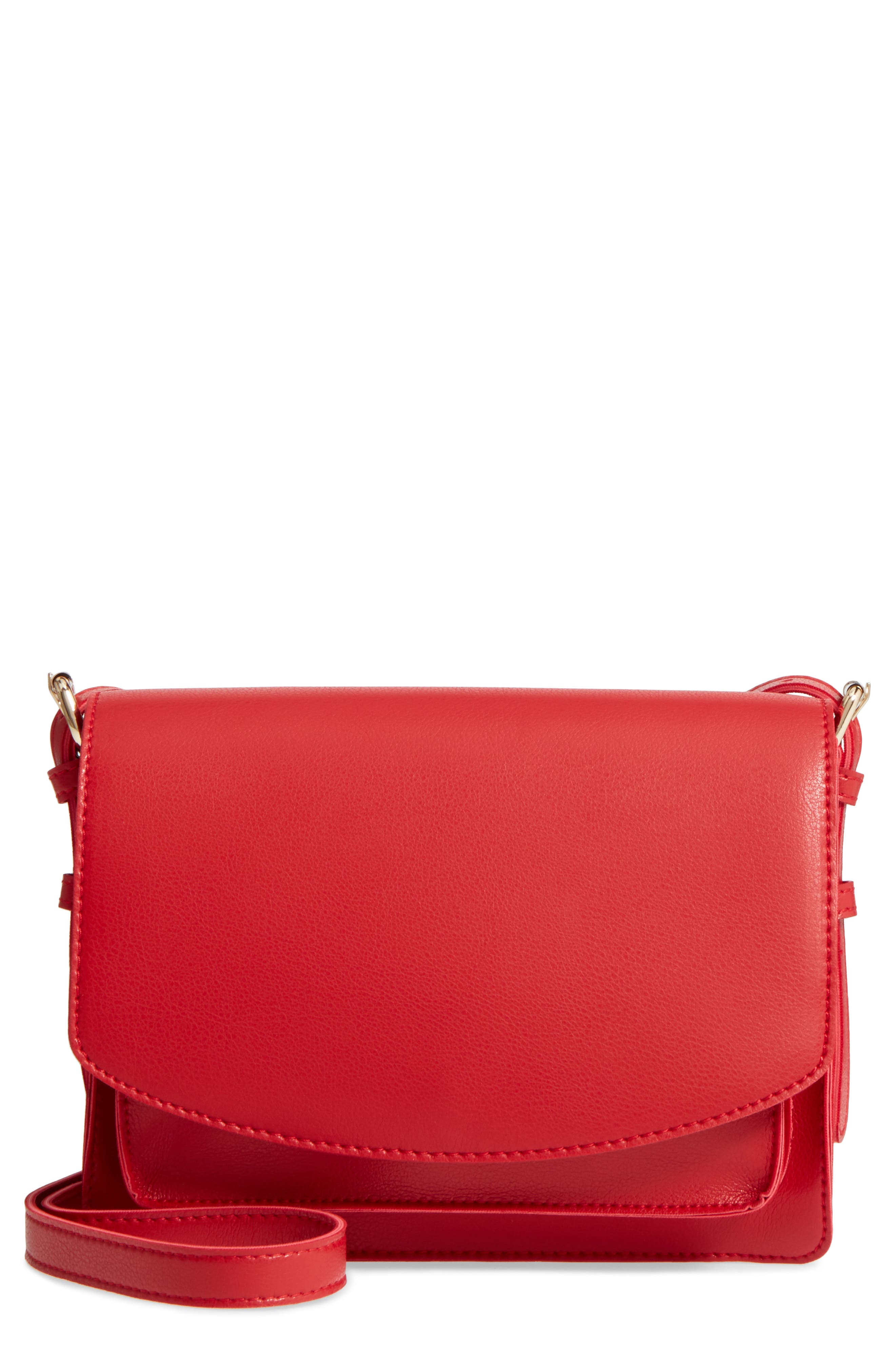 SOLE SOCIETY Michelle Faux Leather Crossbody Bag