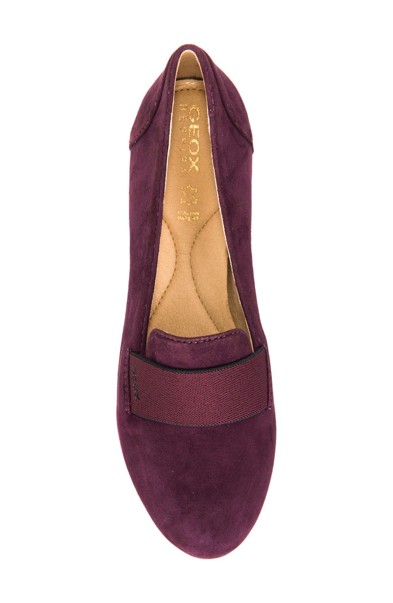Charlene 17 Flat,                             Alternate thumbnail 5, color,                             Prune Leather