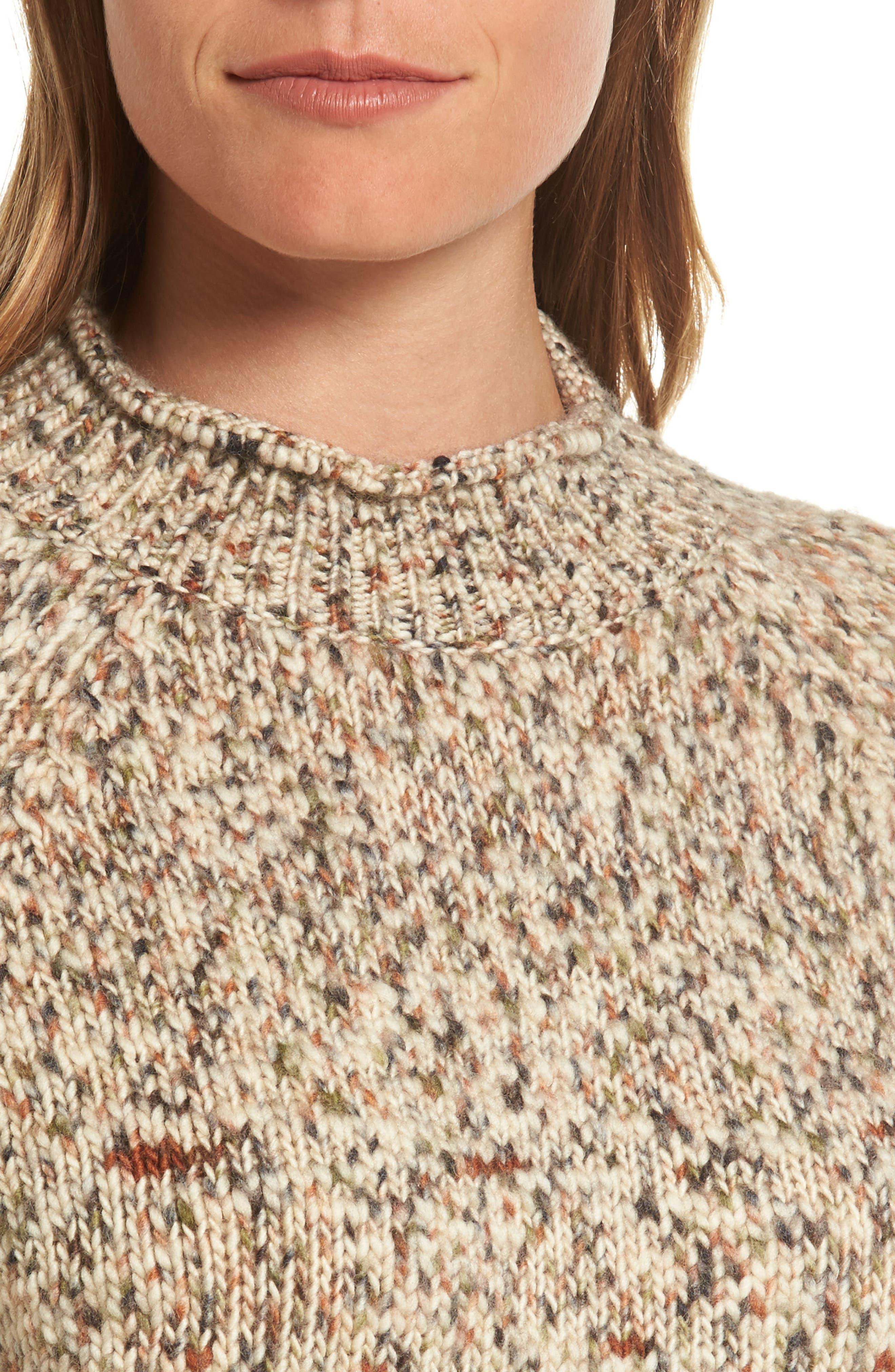 Alternate Image 5  - Barbour Jane Funnel Neck Wool Sweater