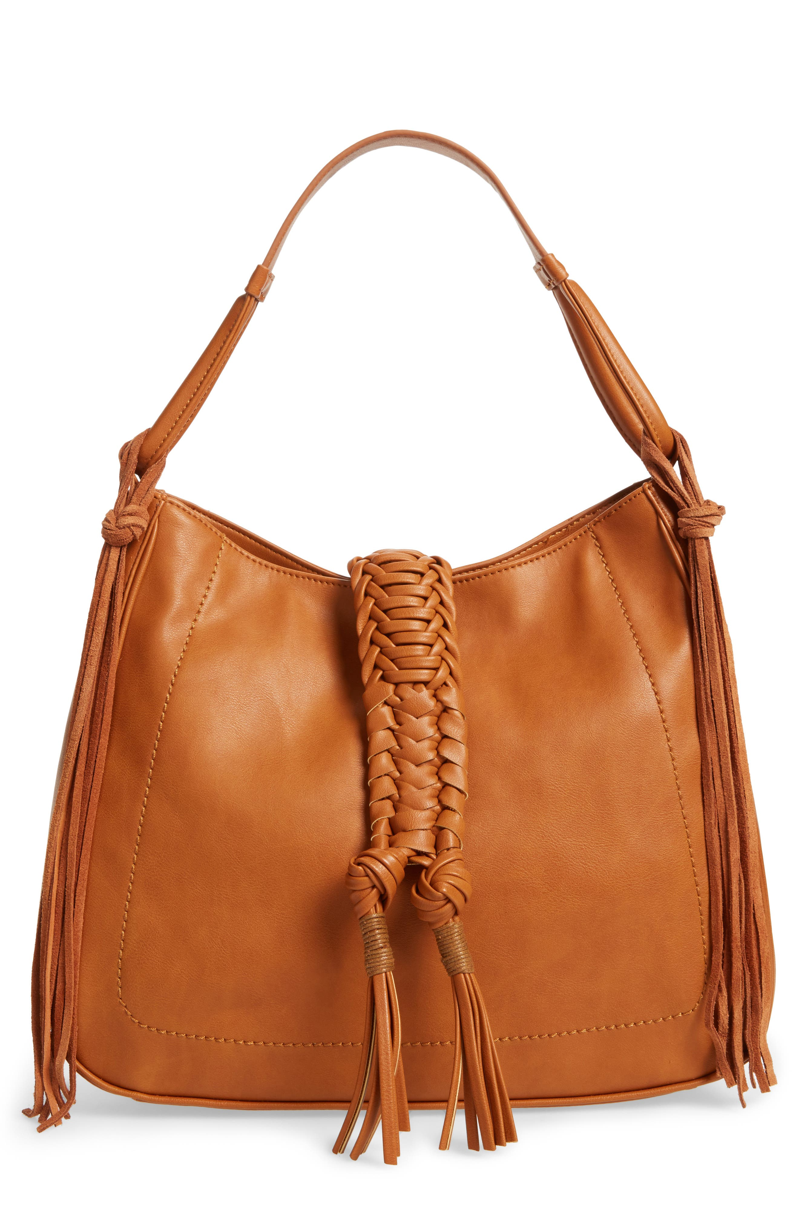 Main Image - Sole Society Vale Faux Leather Hobo Bag