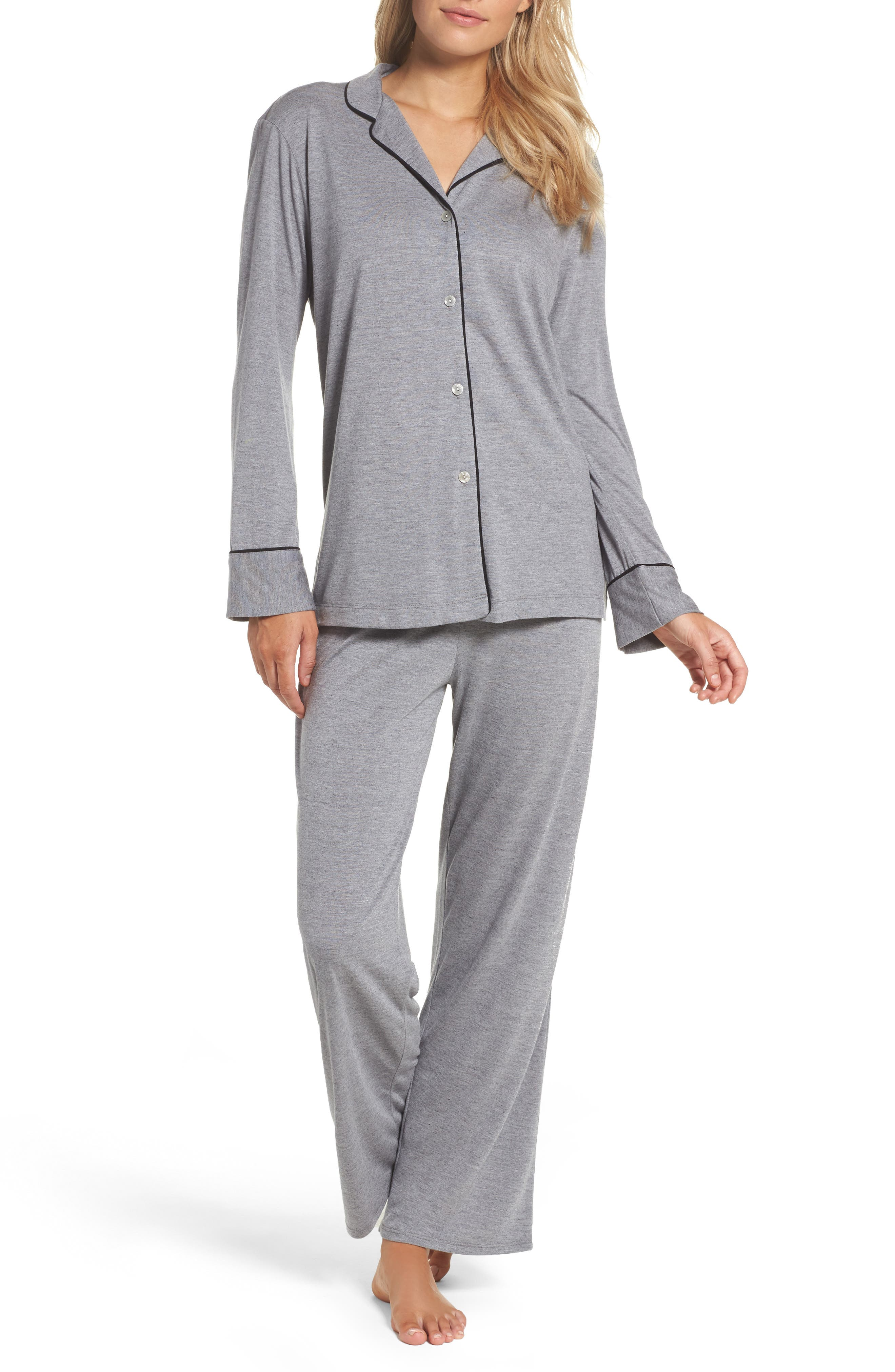 Alternate Image 1 Selected - Natori Shangri La Notch Collar Pajamas