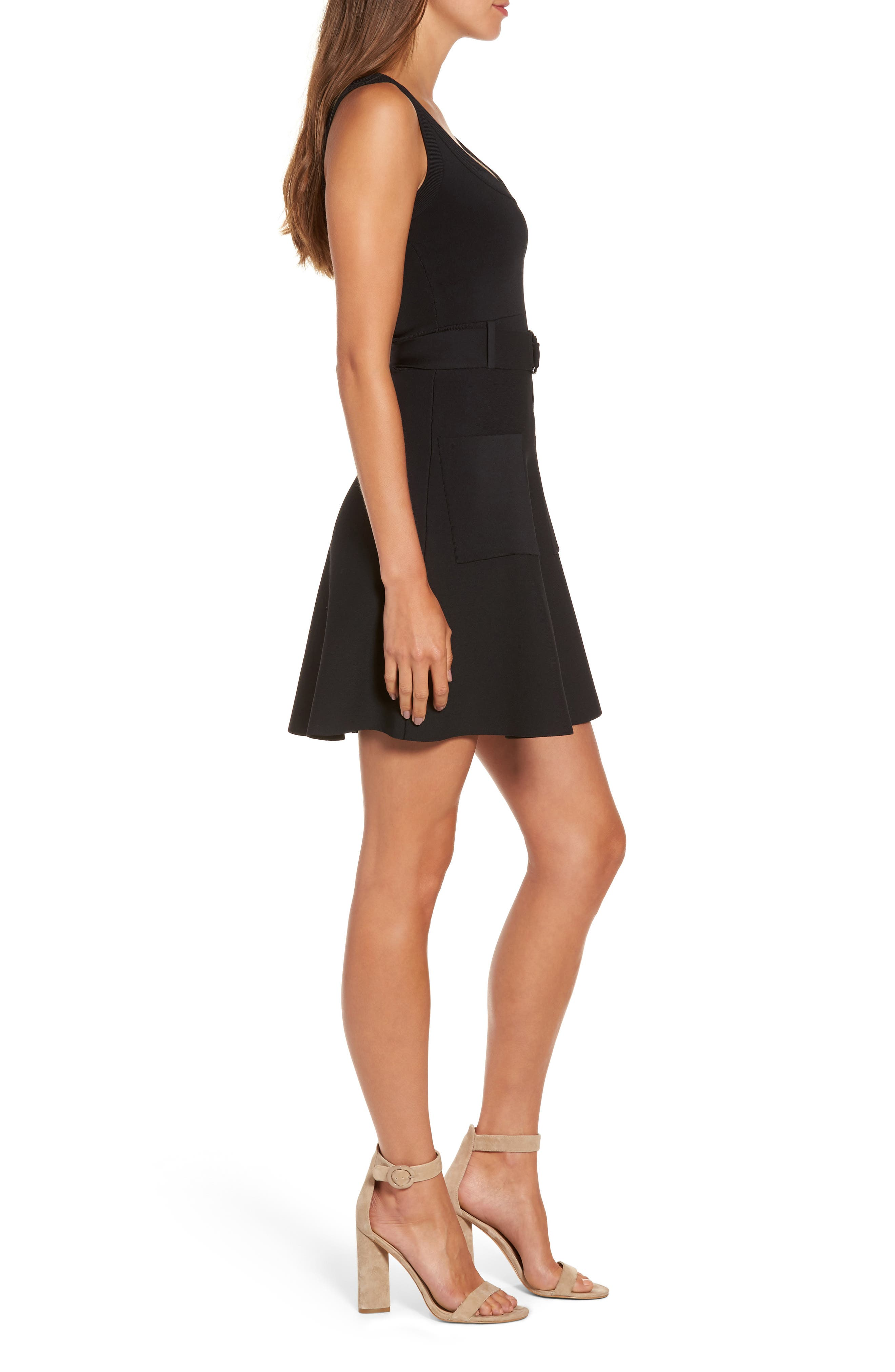 Alternate Image 3  - KENDALL + KYLIE Sleeveless Fit & Flare Dress