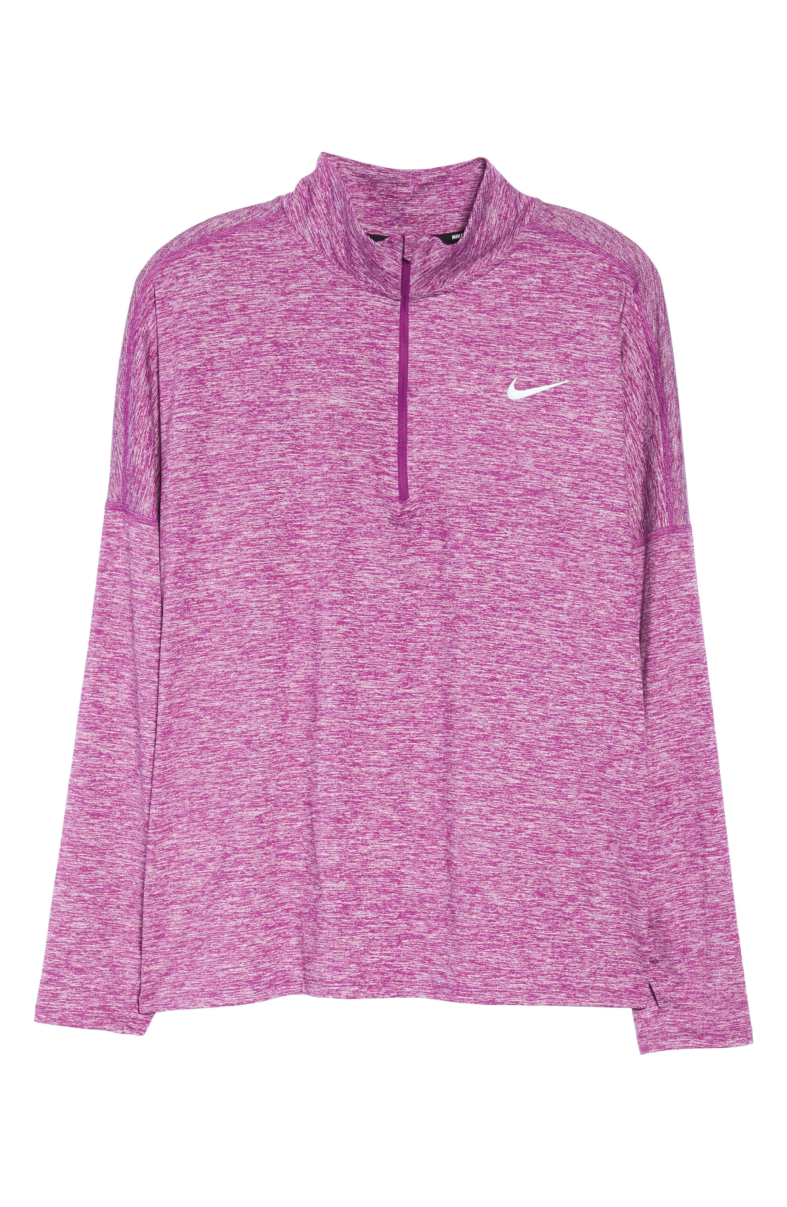 Dry Element Half Zip Top,                             Alternate thumbnail 5, color,                             Bold Berry/ Heather