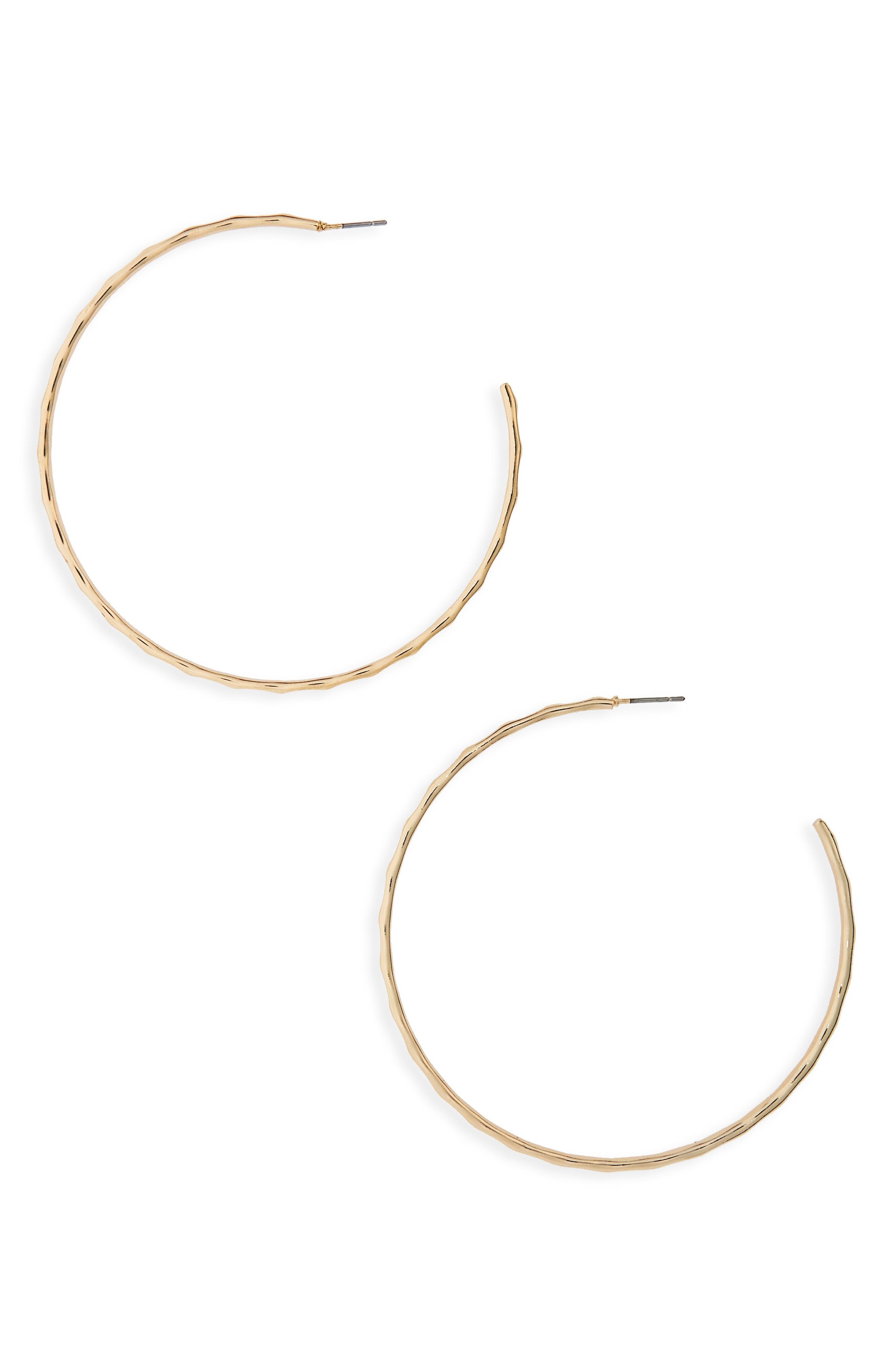 Alternate Image 1 Selected - BP. Textured Hoop Earrings
