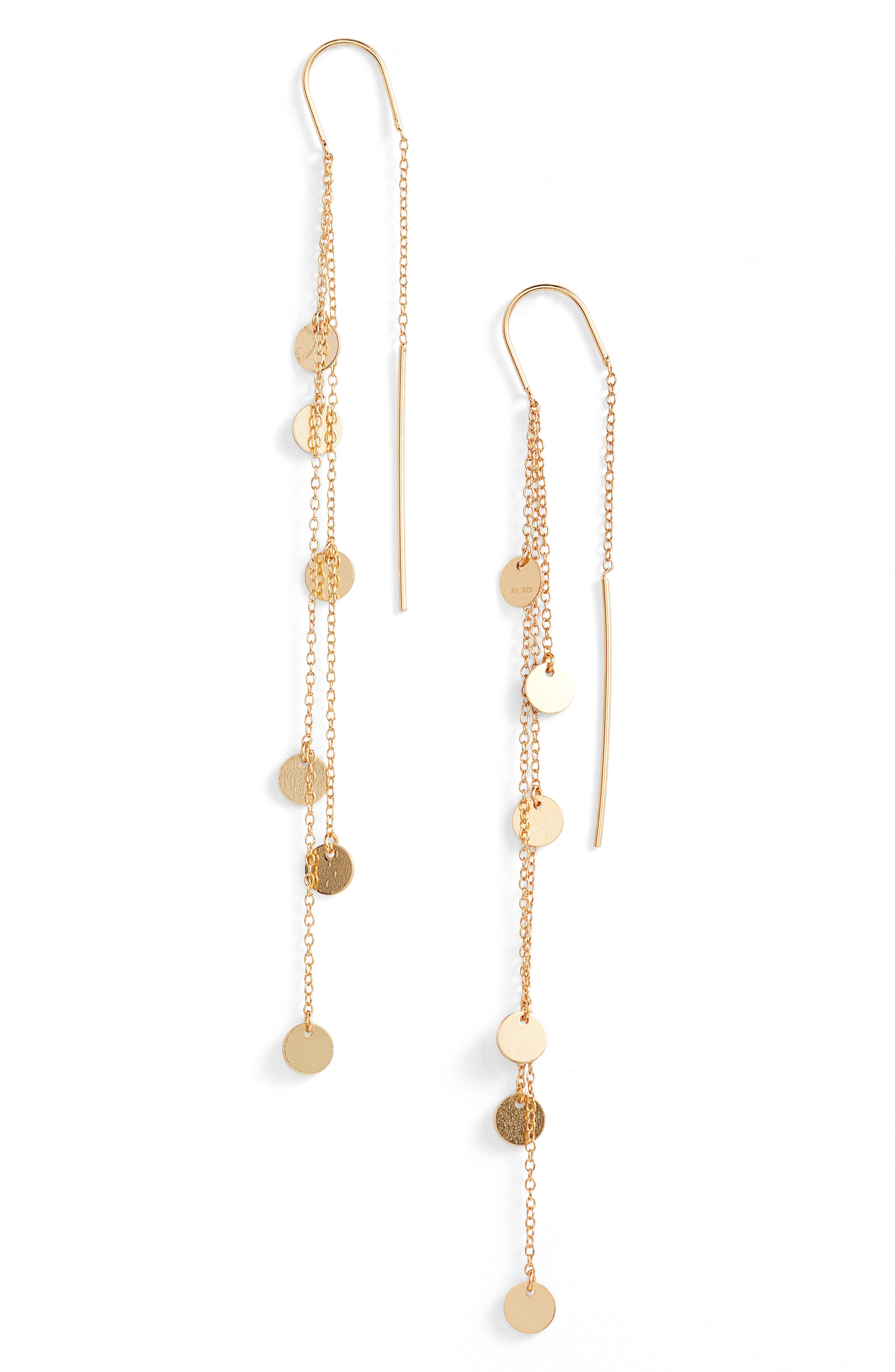 Cascading Drop Earrings,                         Main,                         color, Gold