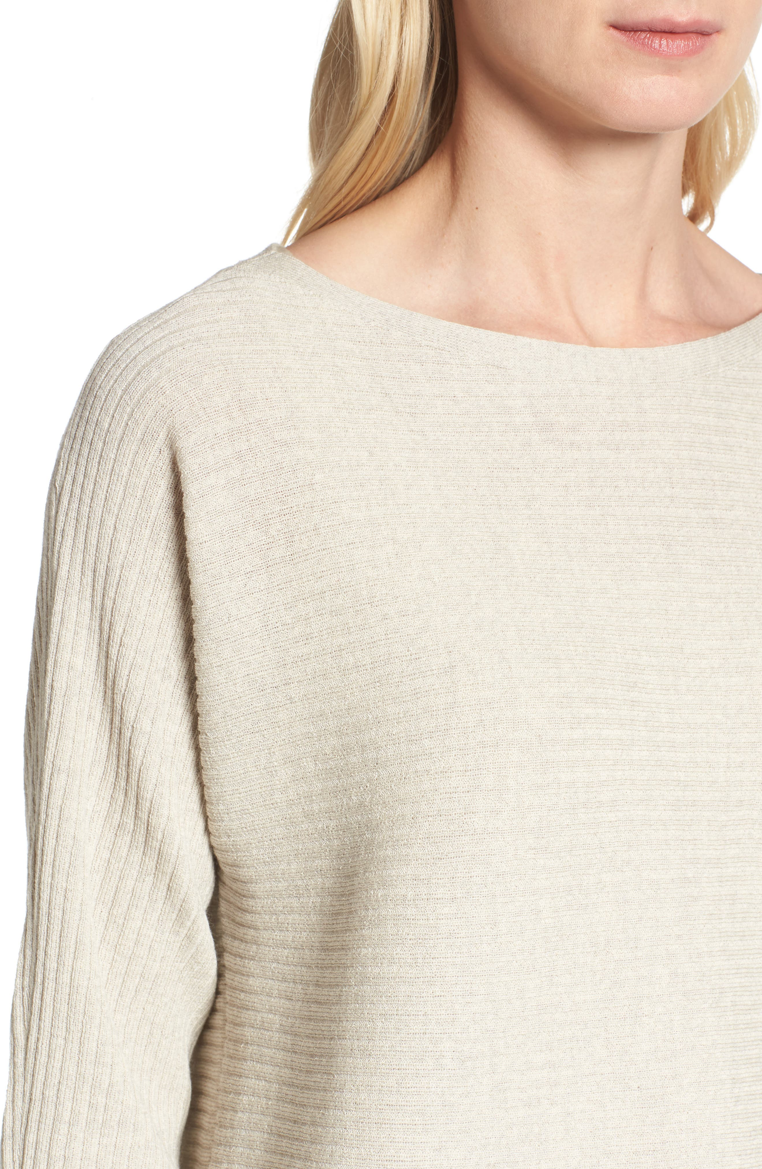 Alternate Image 4  - Eileen Fisher Boxy Ribbed Wool Sweater