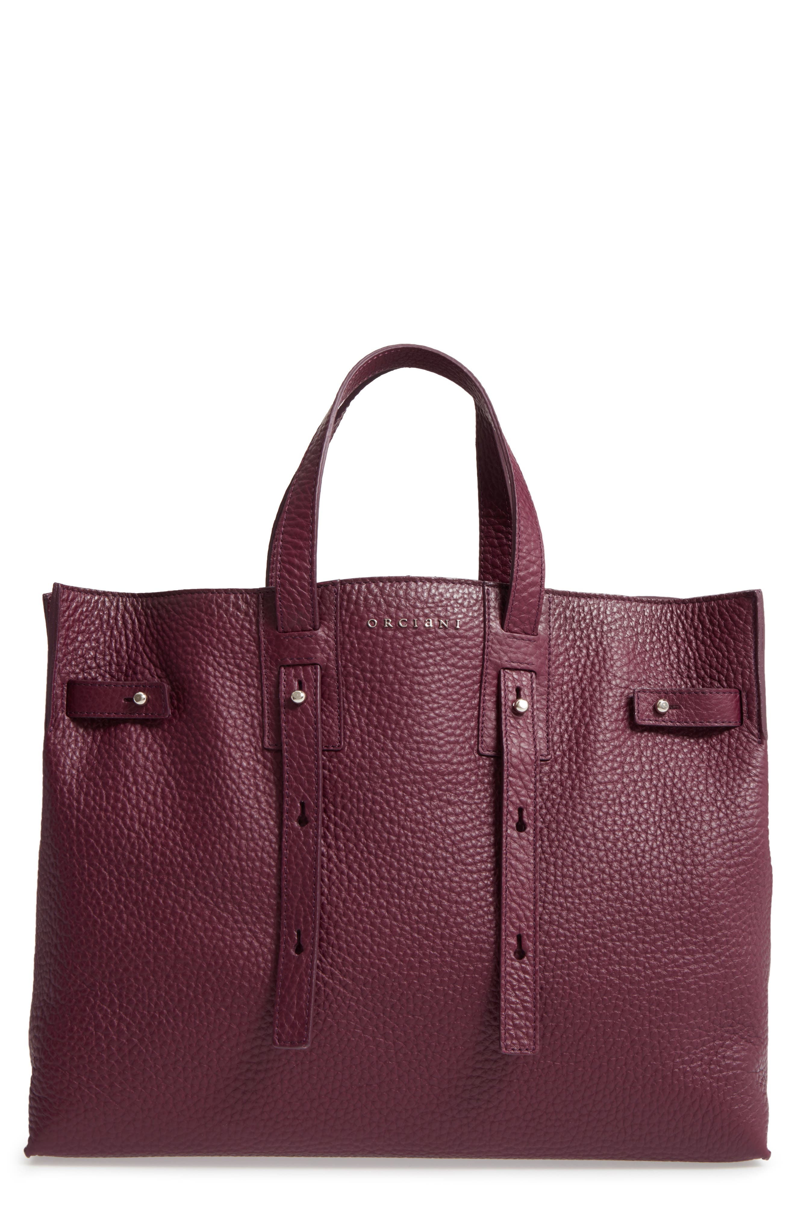 ORCIANI Petra Soft Calfskin Leather Tote