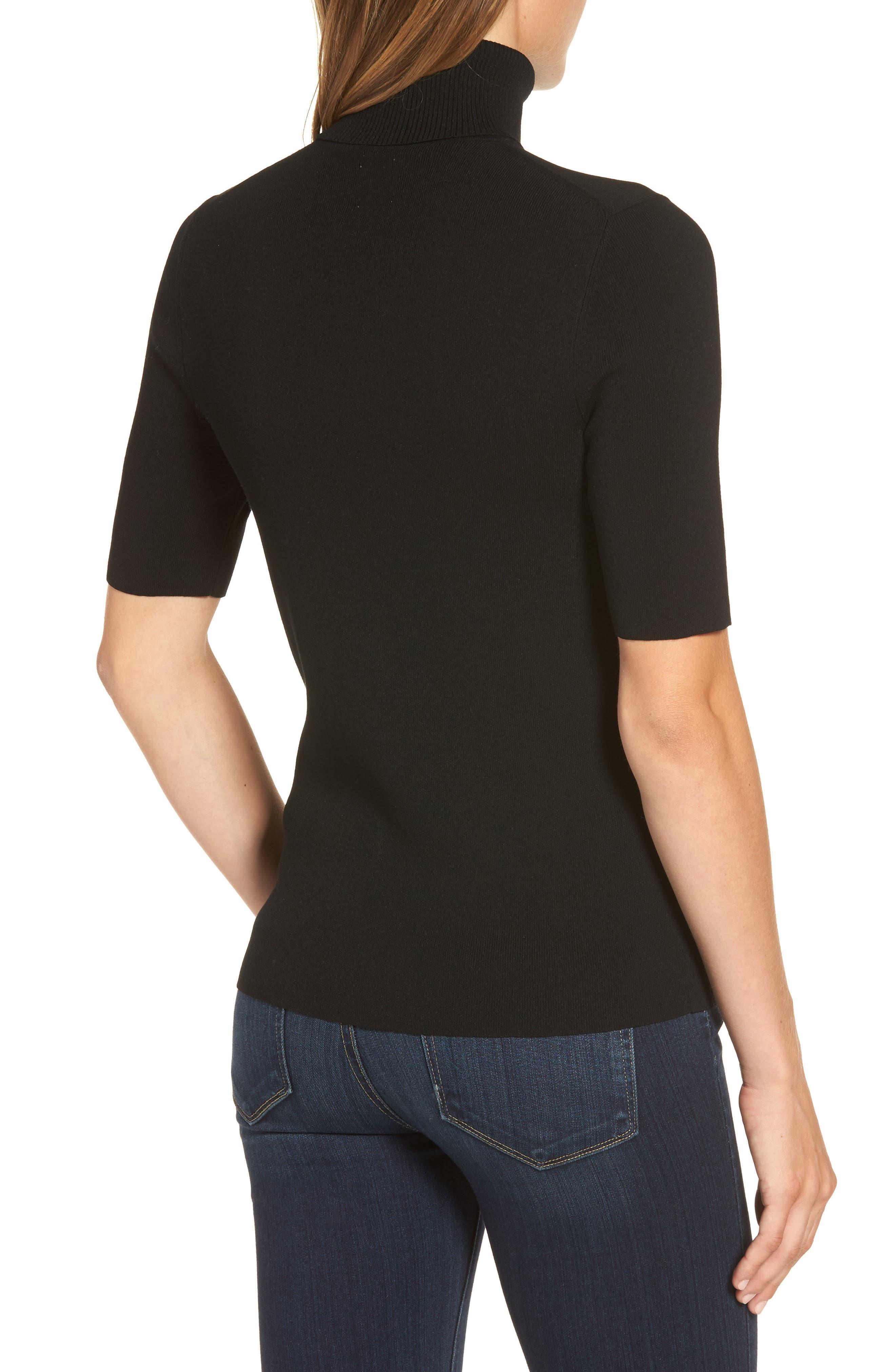 Turtleneck Sweater,                             Alternate thumbnail 2, color,                             Black