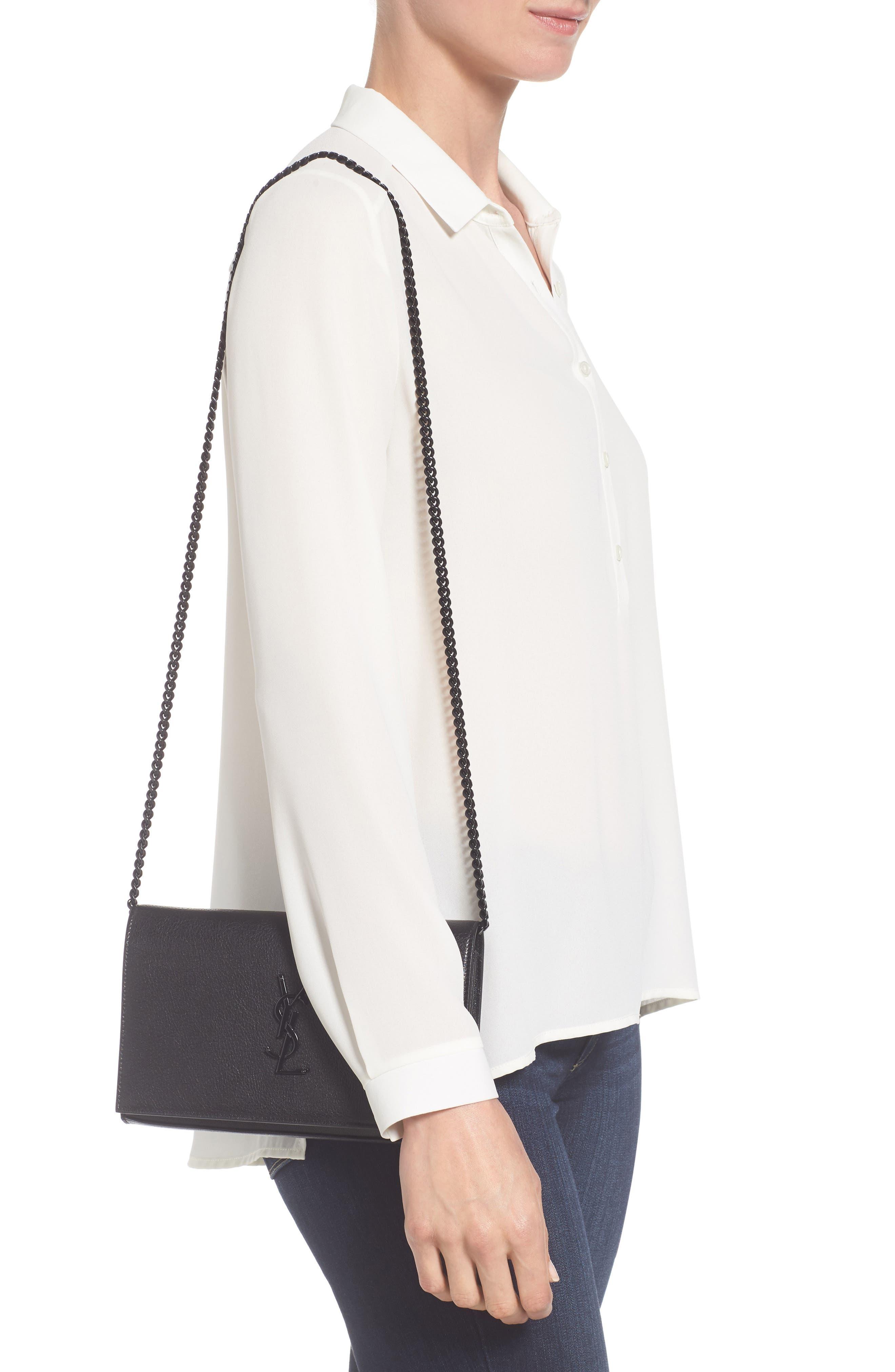 Alternate Image 2  - Saint Laurent Monogramme Patchwork Lips Leather Shoulder Bag