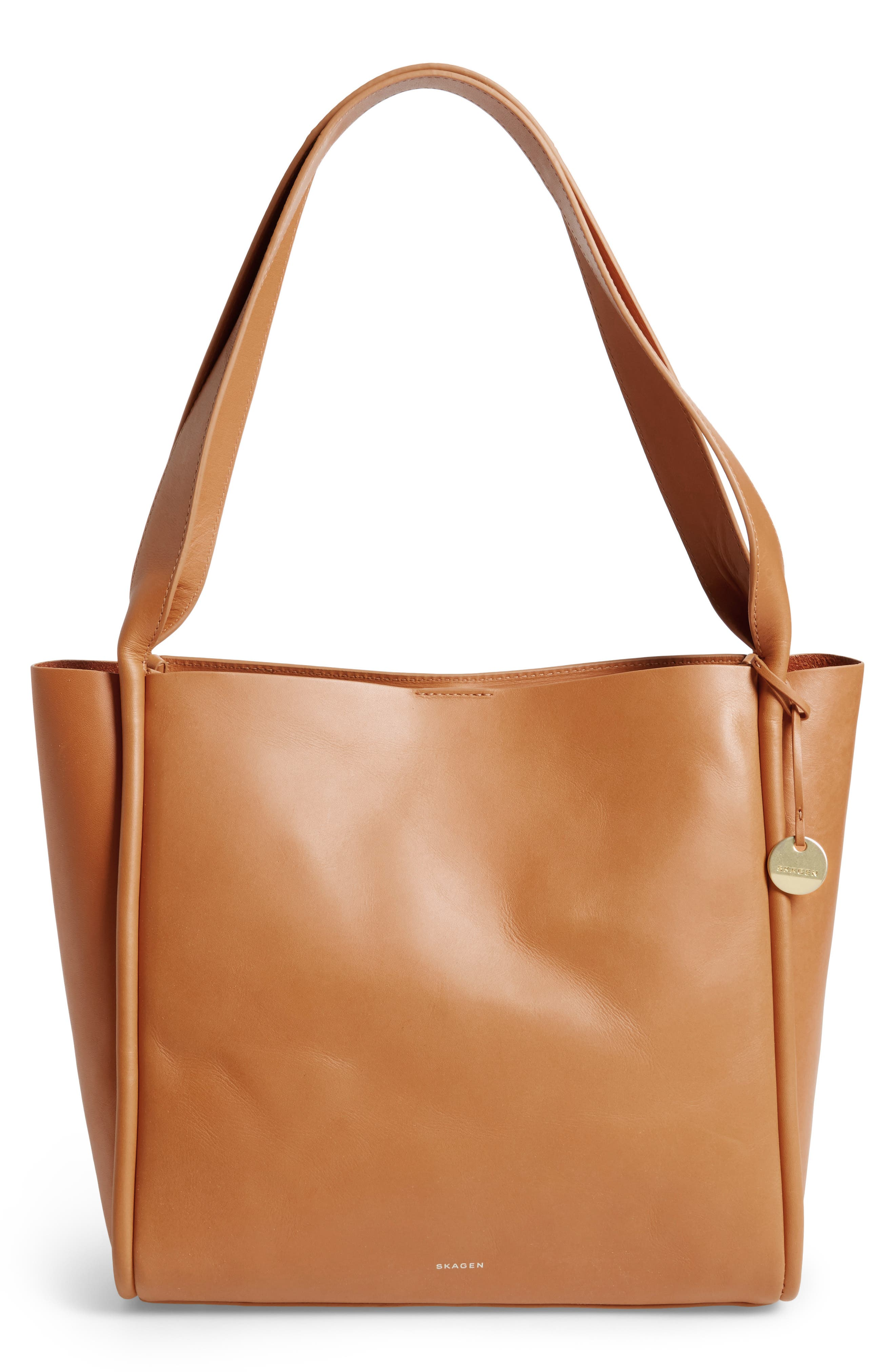 Alternate Image 1 Selected - Skagen Karalie Leather Shoulder Bag