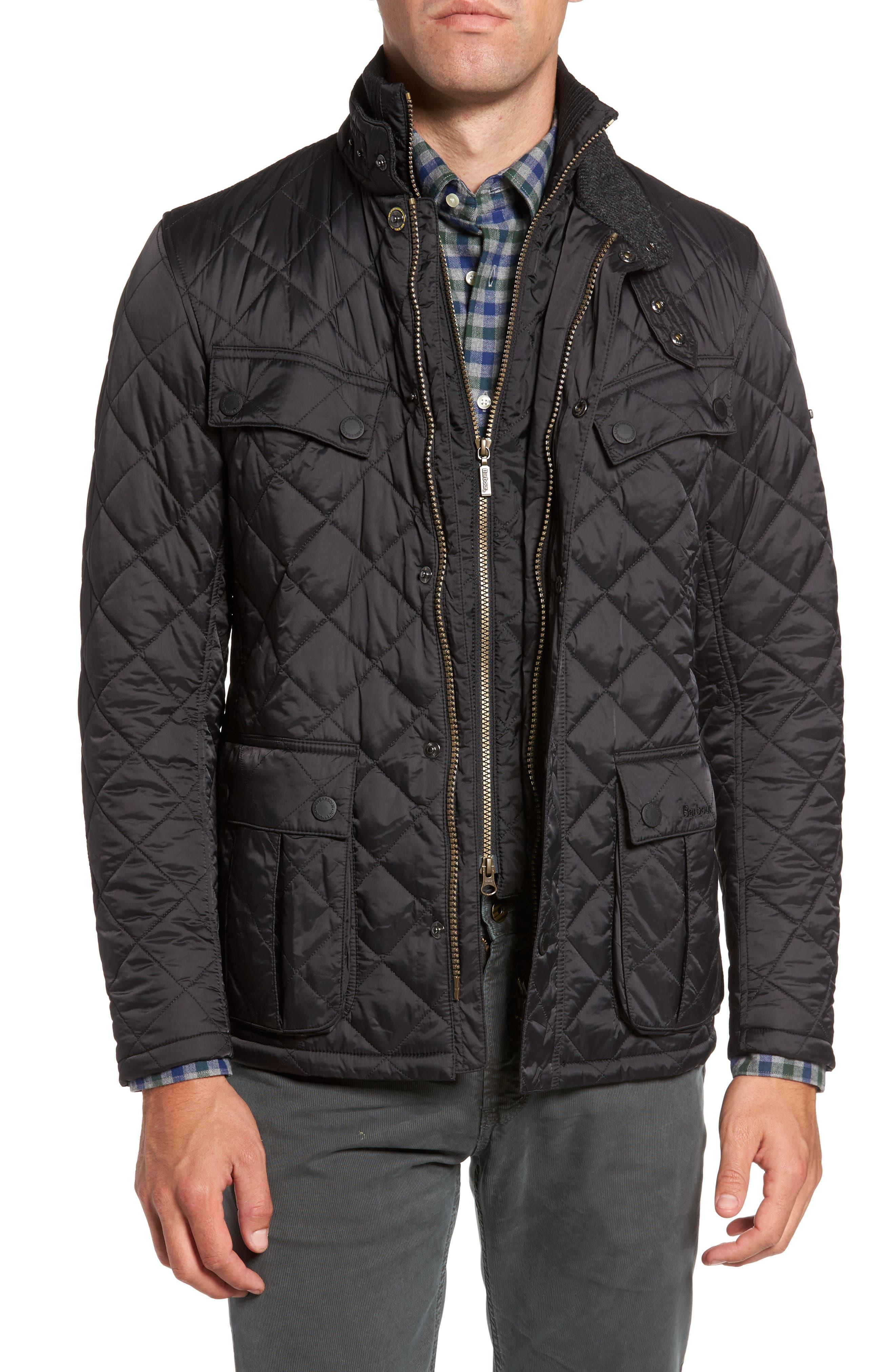 International Windshield Quilted Jacket,                         Main,                         color, Black