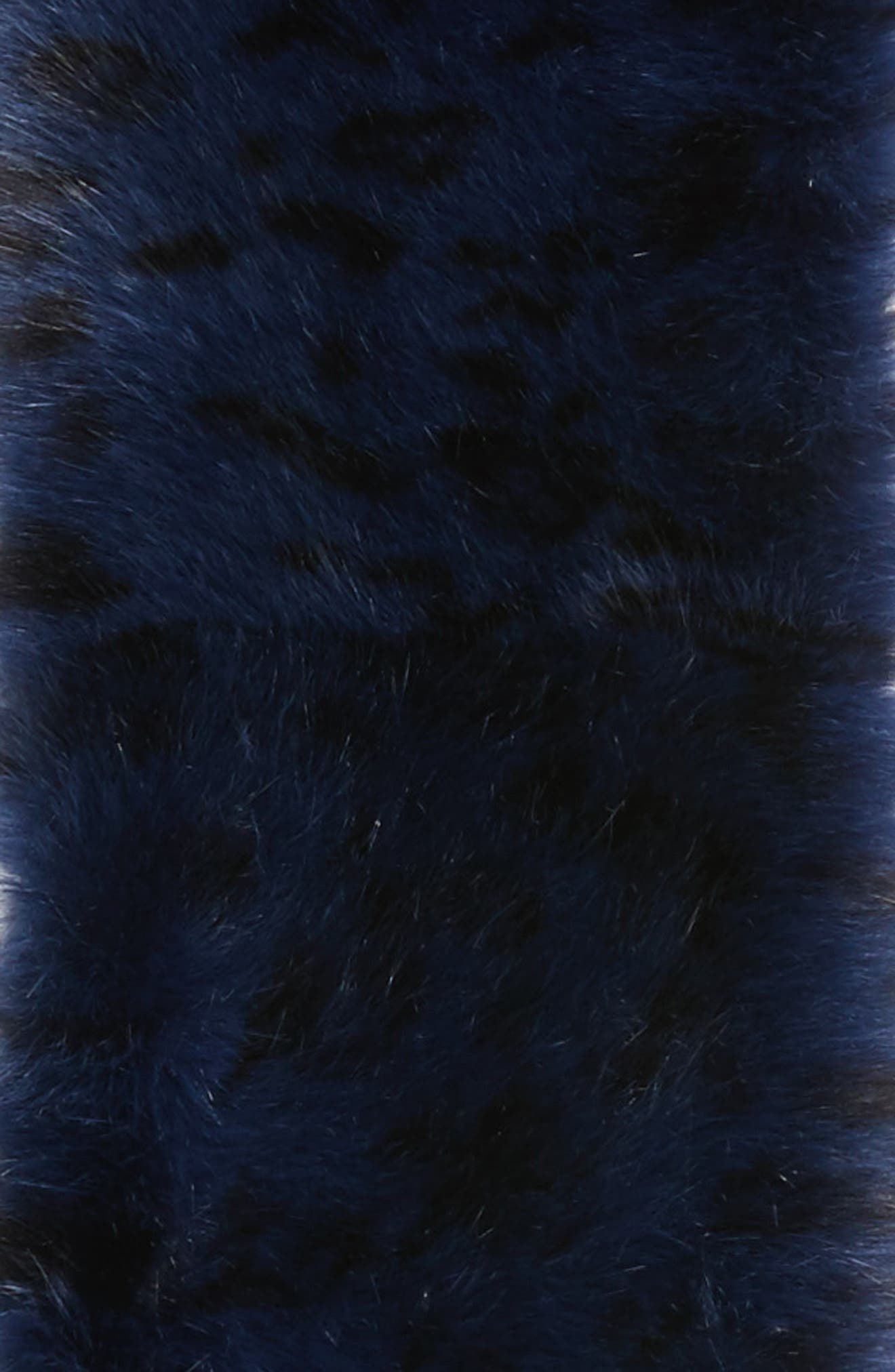 Cool Tiger Faux Fur Stole,                             Alternate thumbnail 4, color,                             Blue Combo