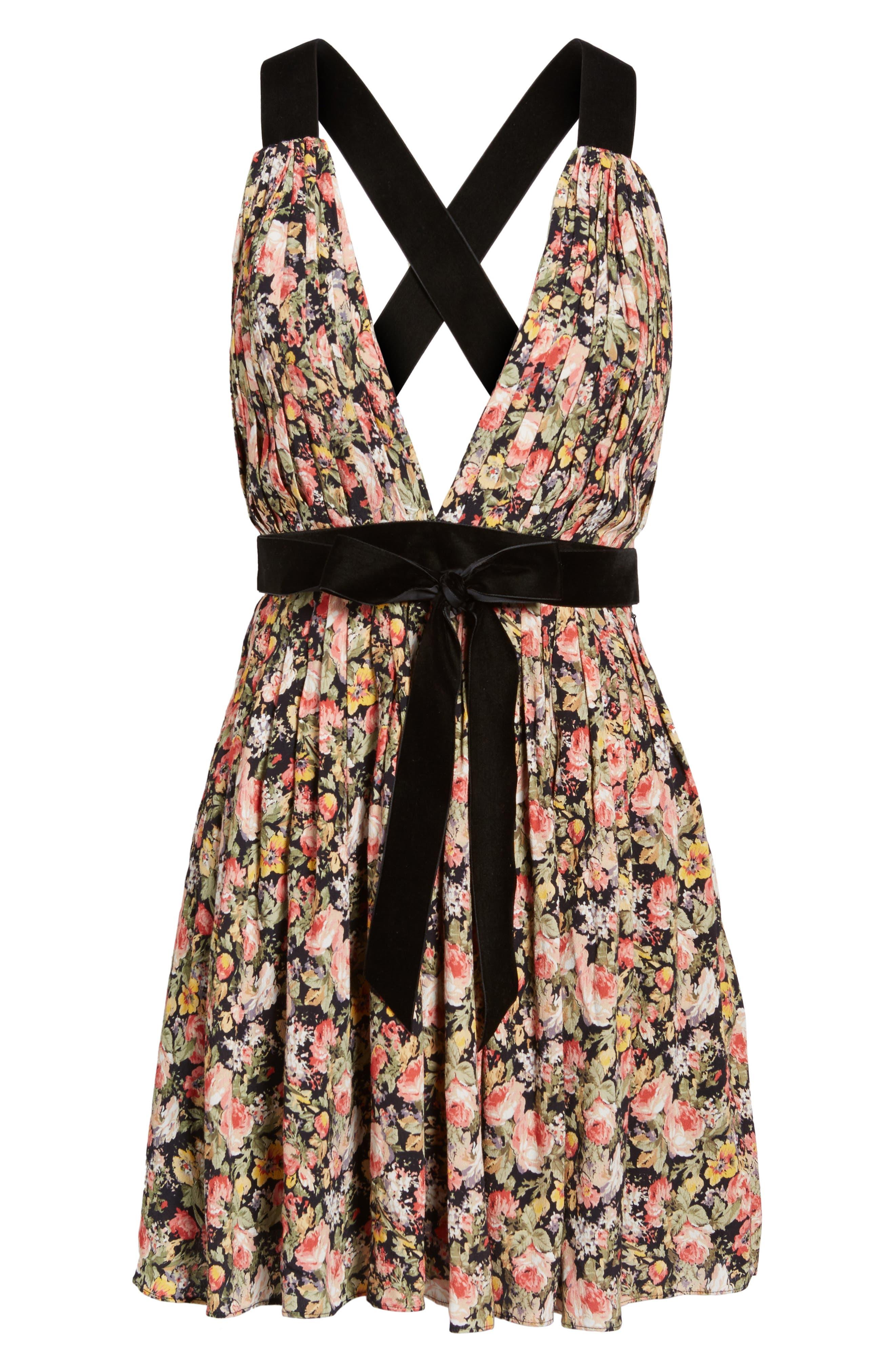 April Floral Minidress,                             Alternate thumbnail 6, color,                             Bouquet
