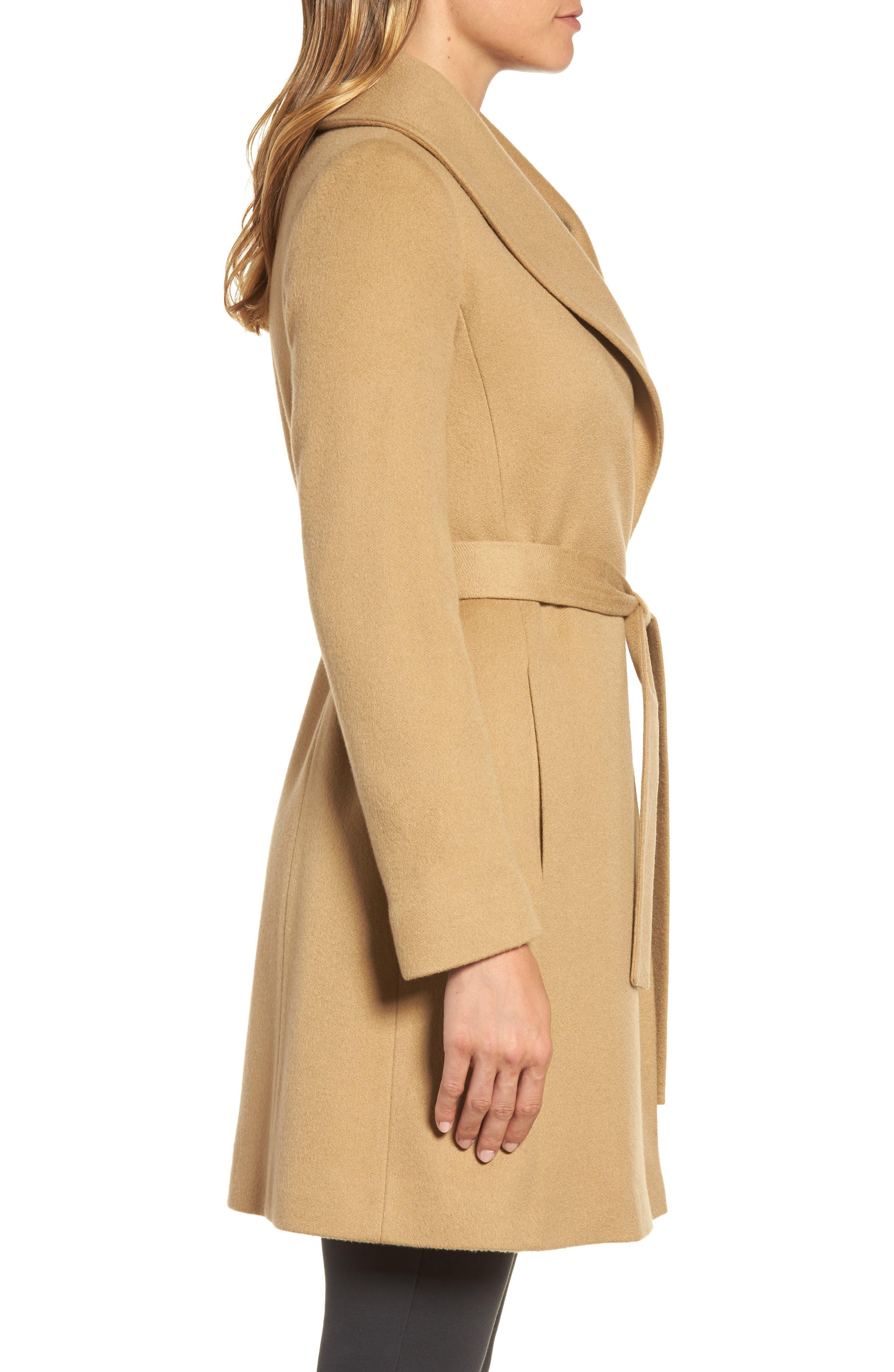 Alternate Image 3  - Fleurette Shawl Collar Cashmere Wrap Coat