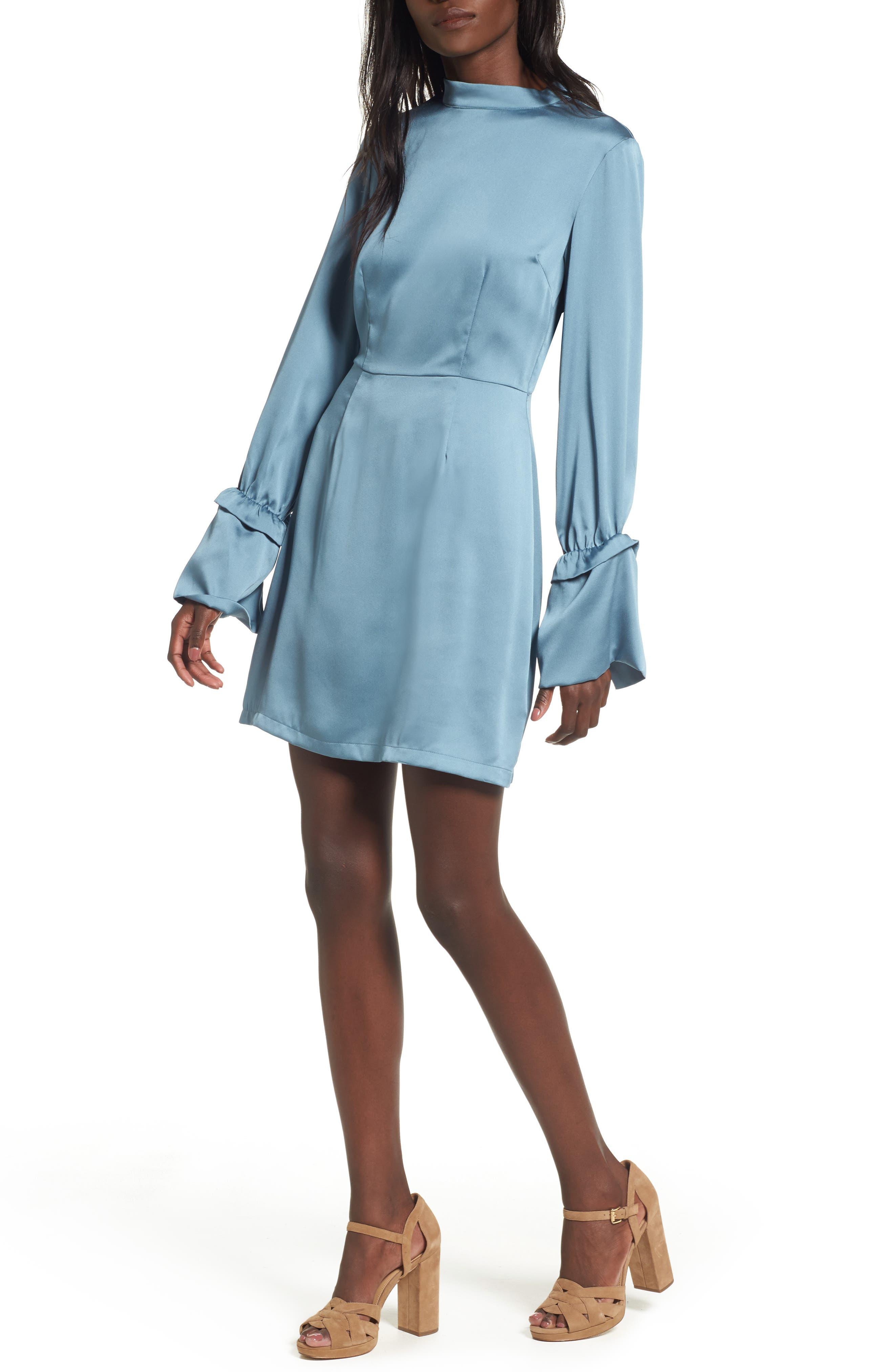 Cue the Beats A-Line Dress,                         Main,                         color, Blue Smoke