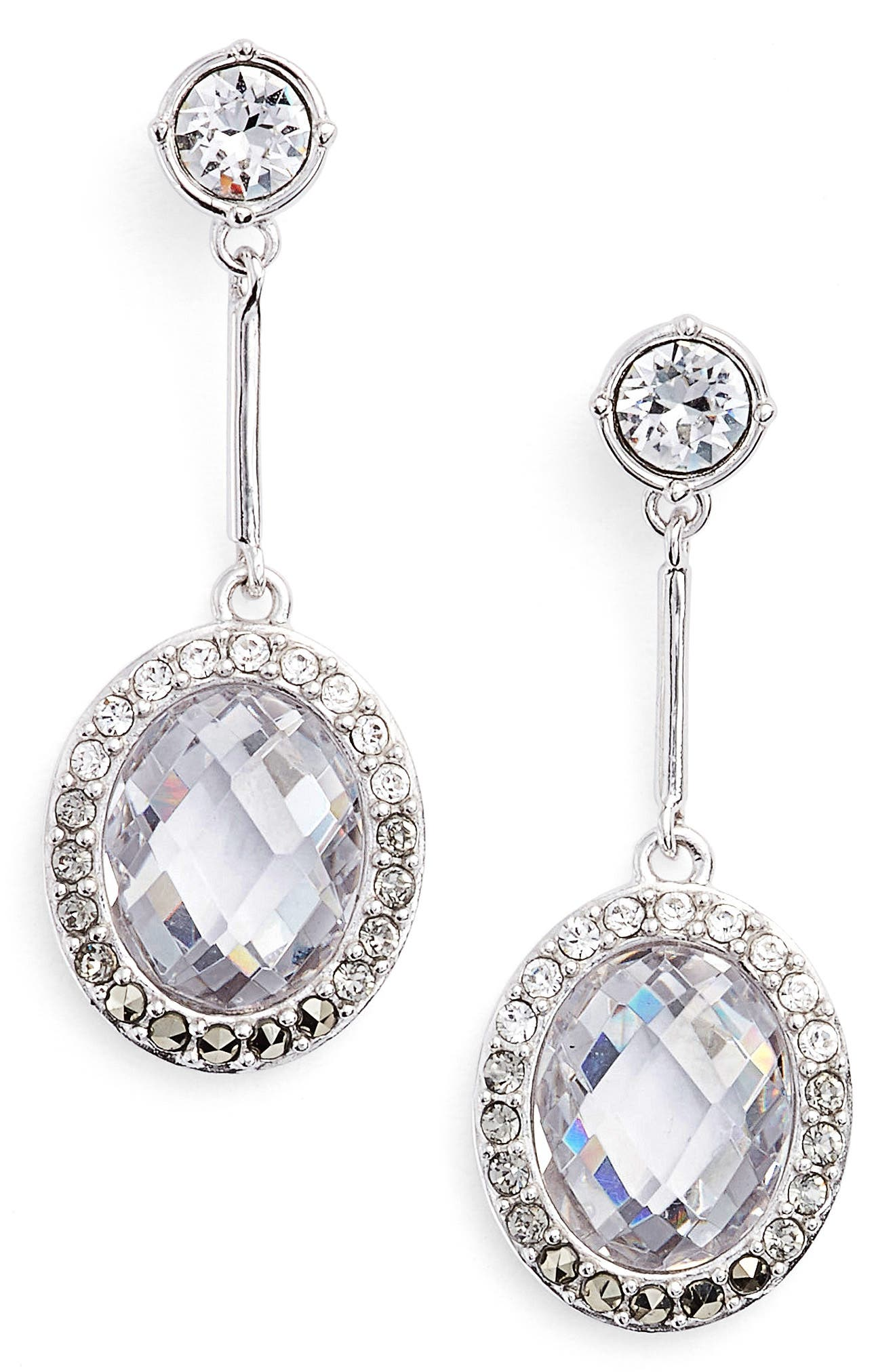 JUDITH JACK Lend an Ear Oval Drop Earrings