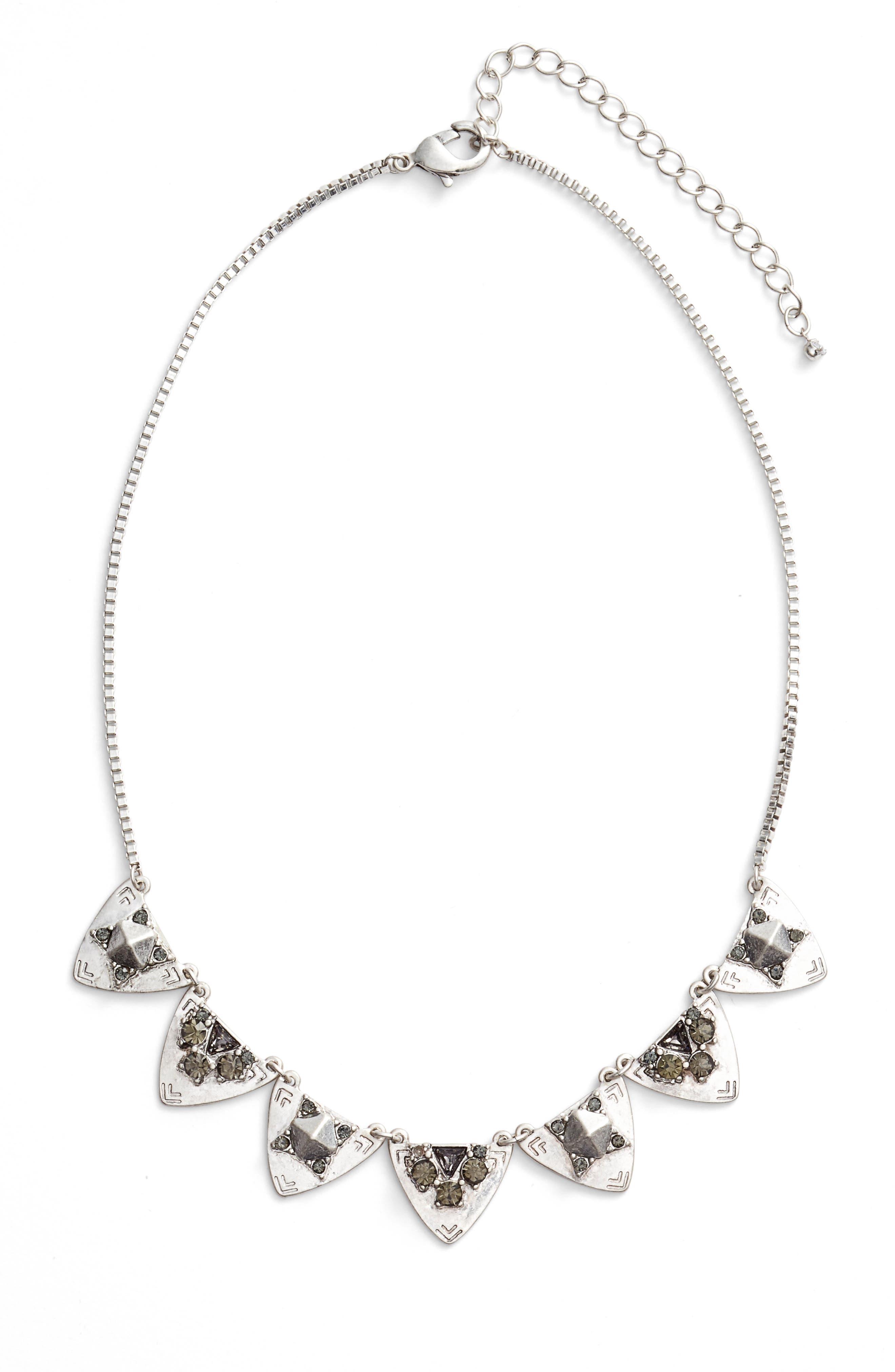 Treasure & Bond Frontal Crystal Necklace