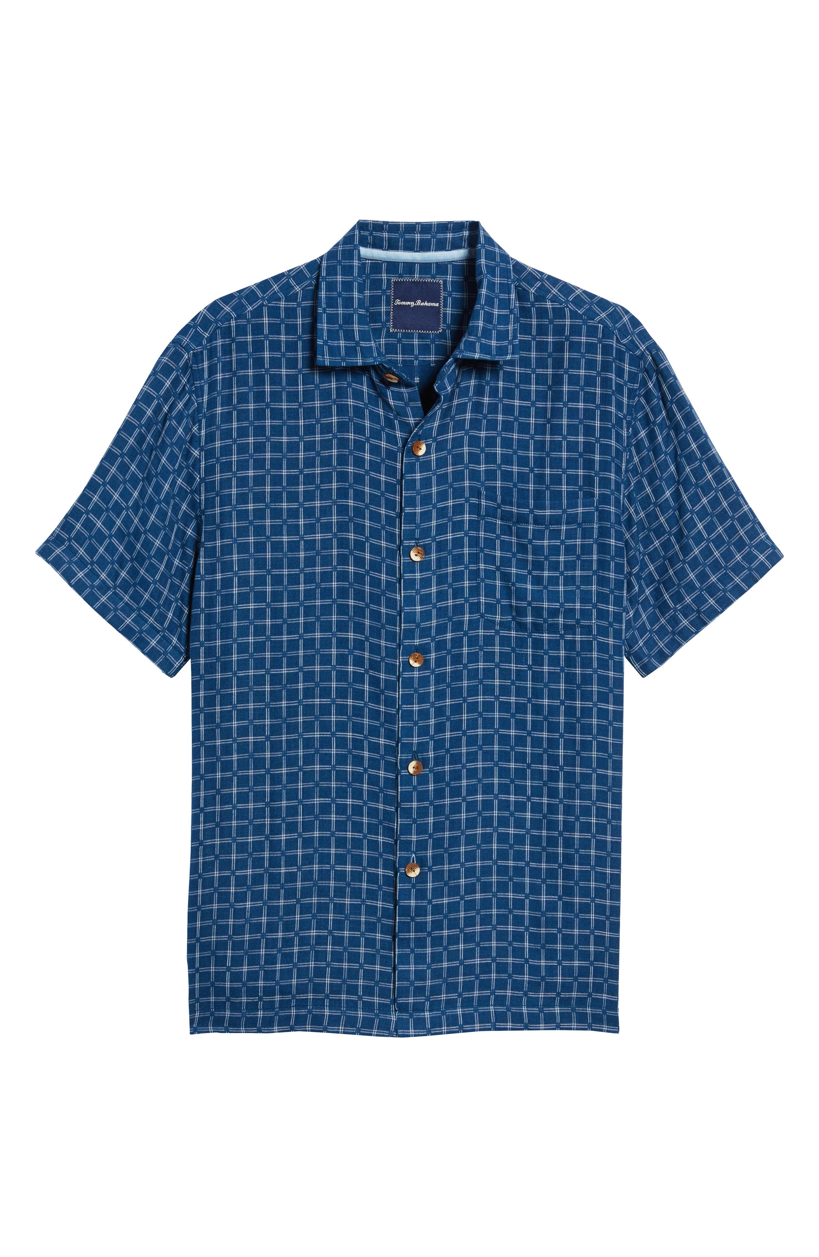 Alternate Image 6  - Tommy Bahama Keep It in Check Standard Fit Silk Blend Camp Shirt