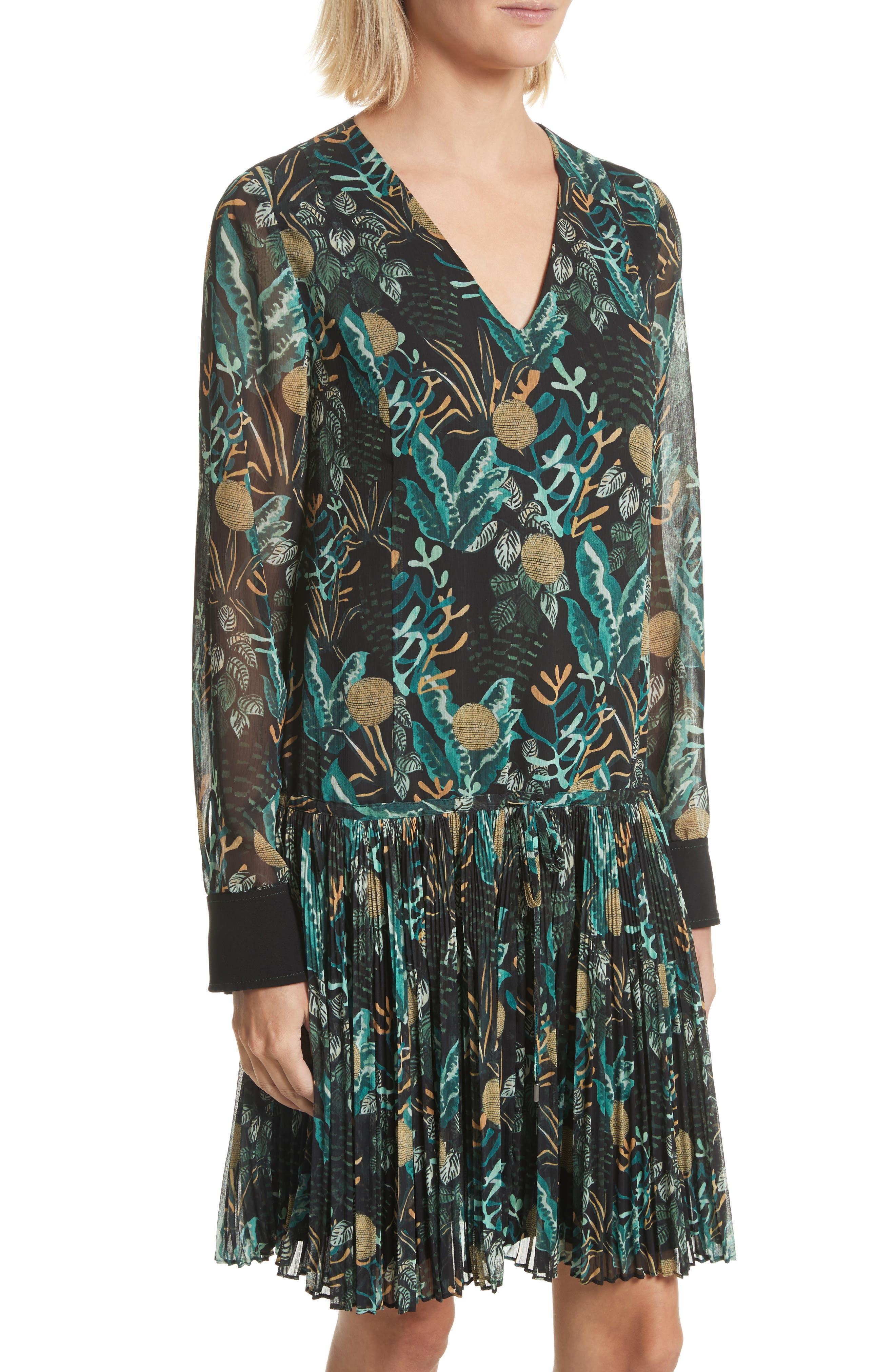 Alternate Image 4  - GREY Jason Wu Print Drop Waist Drawstring Dress