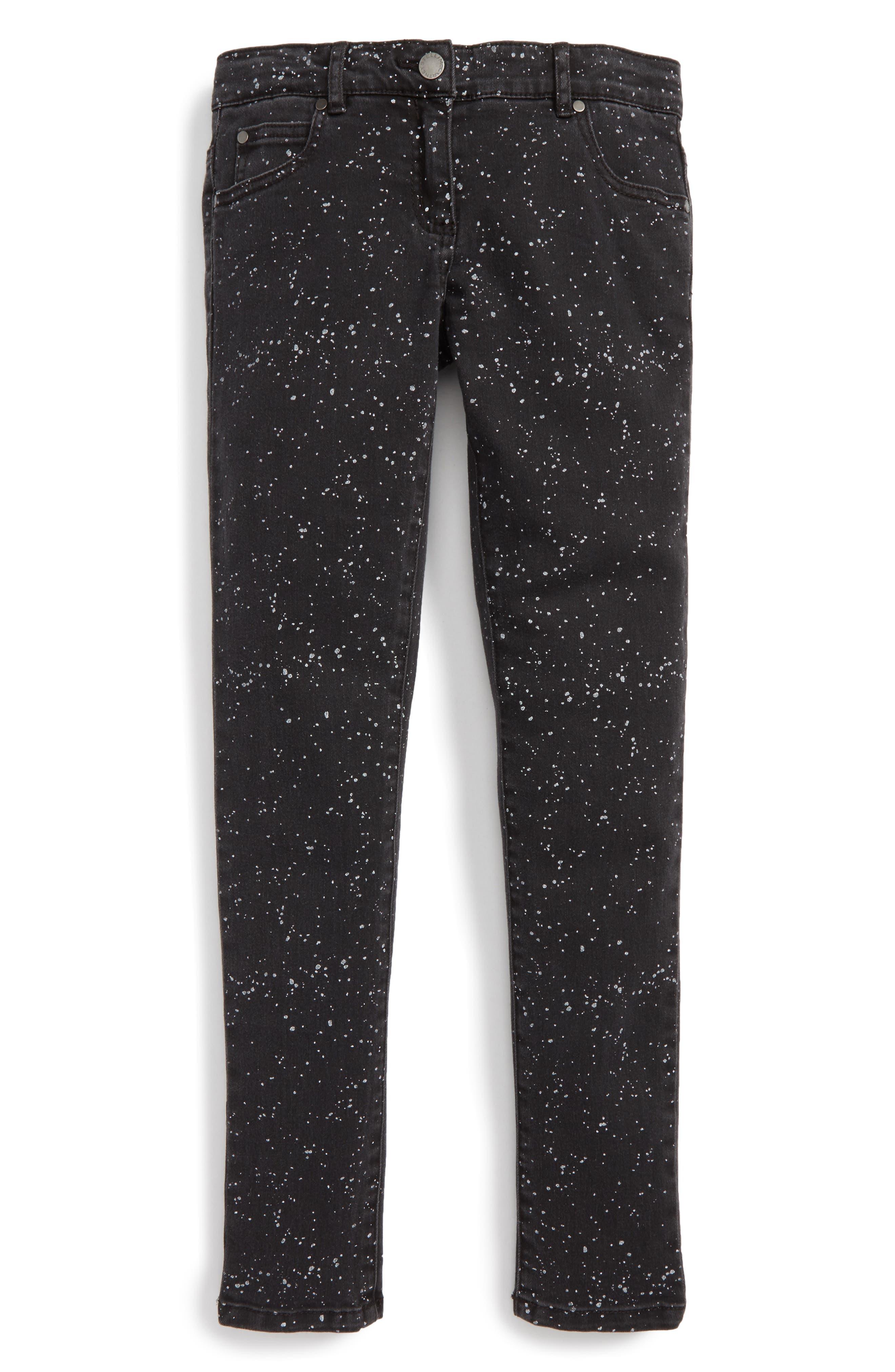Stella McCartney Kids Nina Paint Splatter Skinny Jeans (Toddler Girls, Little Girls & Big Girls)