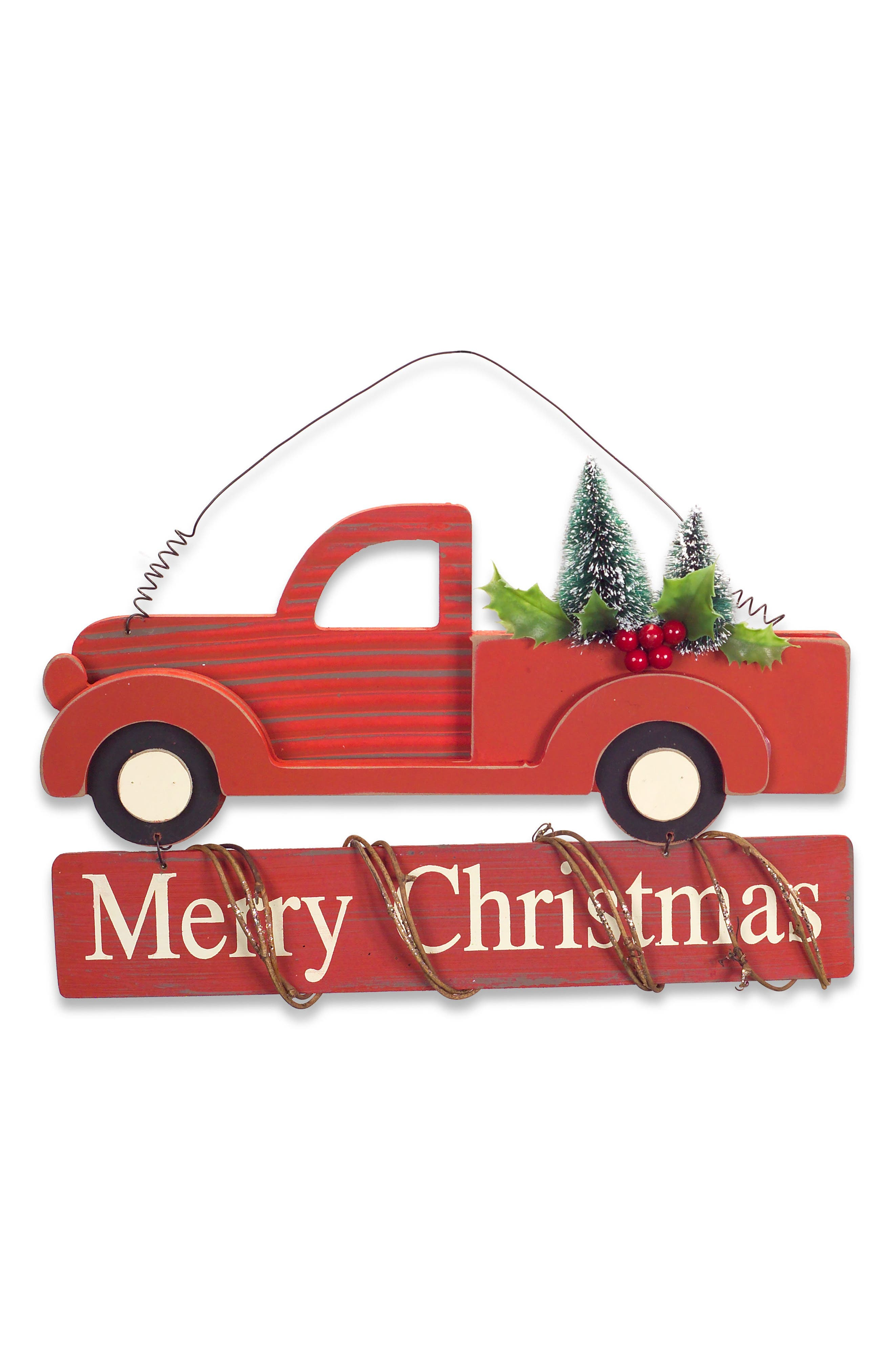 Merry Christmas Wall Art,                         Main,                         color, Red