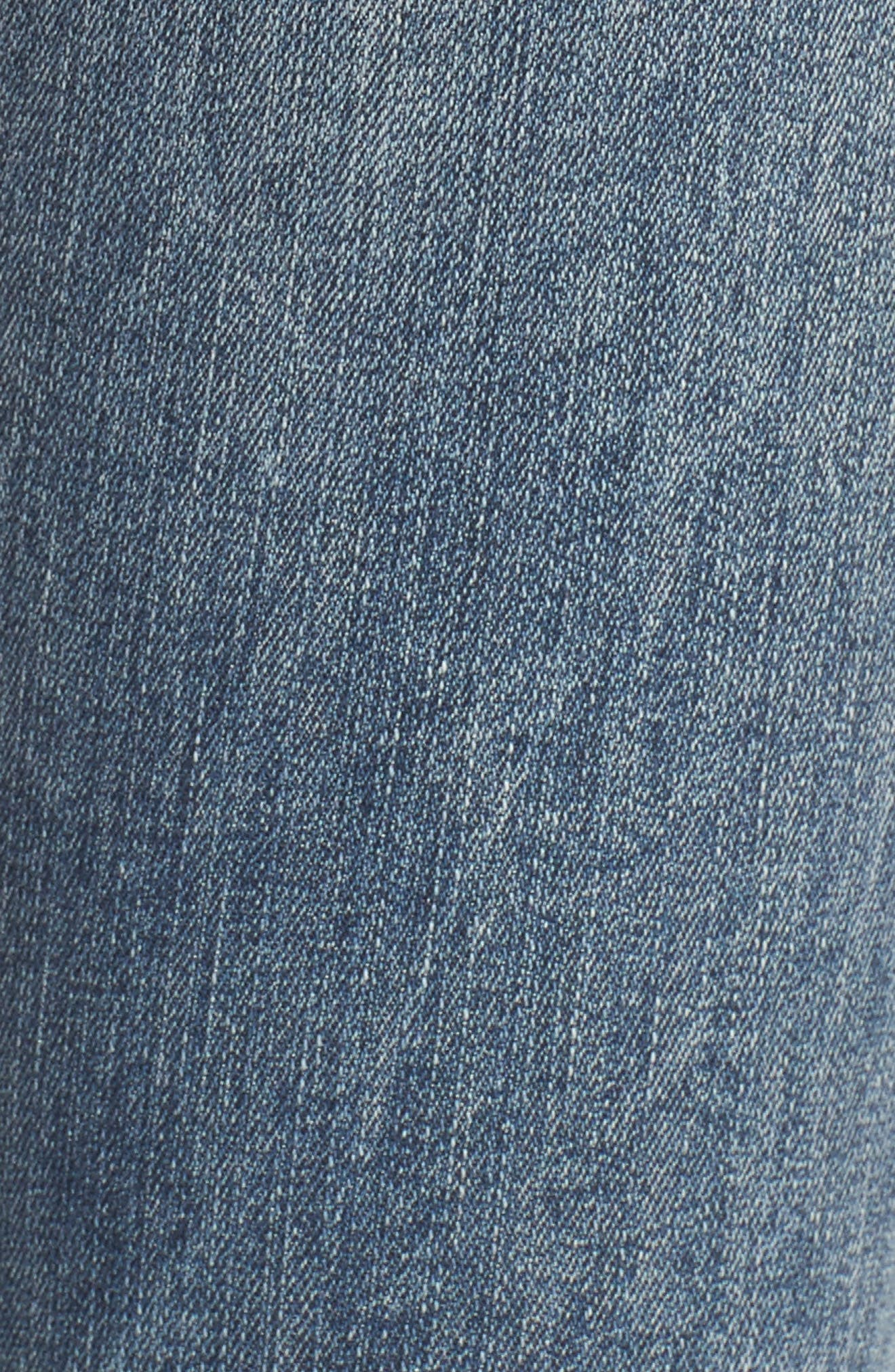 Taylor Zip Detail Skinny Ankle Jeans,                             Alternate thumbnail 5, color,                             Rockland