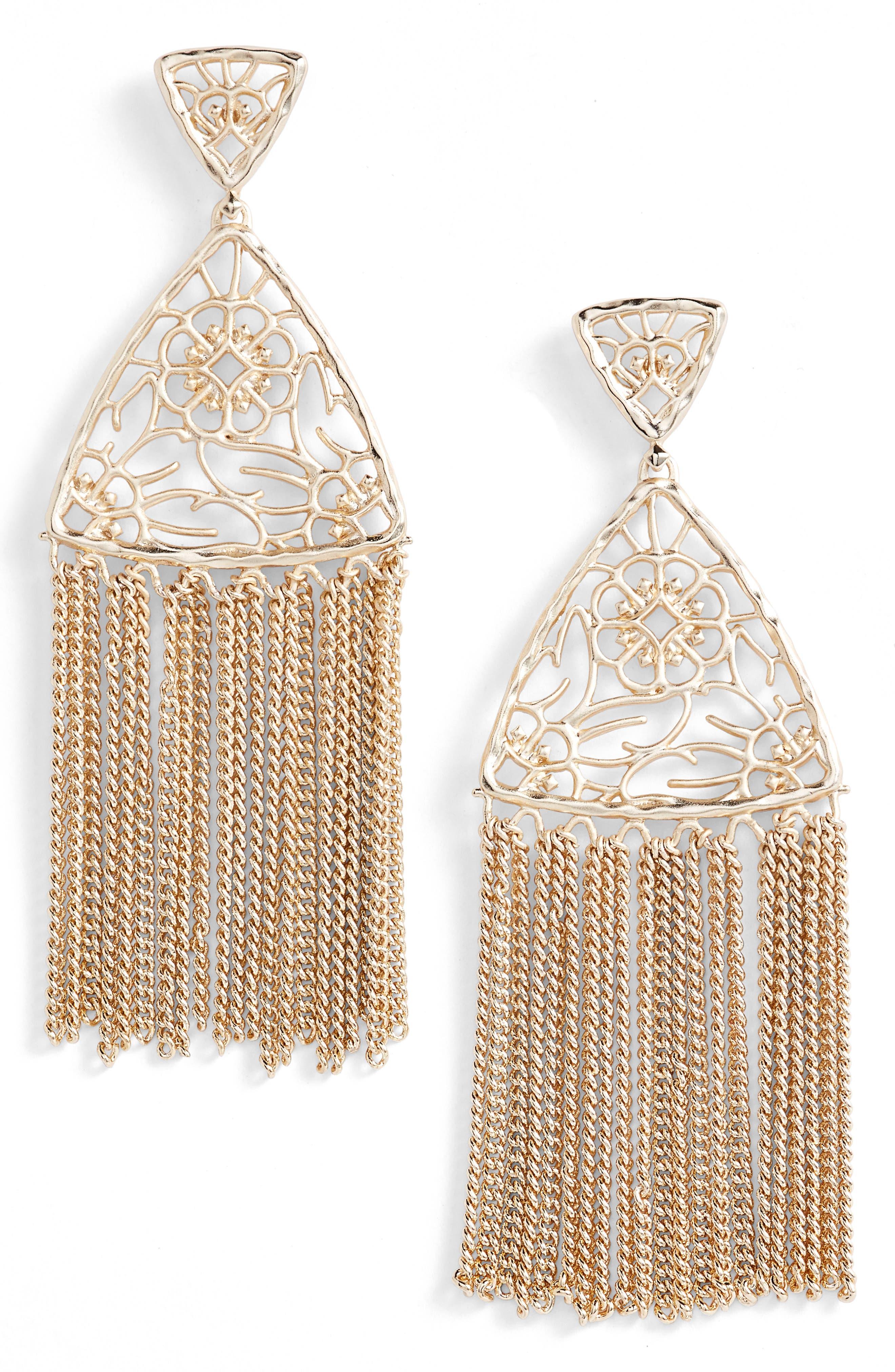 Ana Drop Earrings,                         Main,                         color, Gold