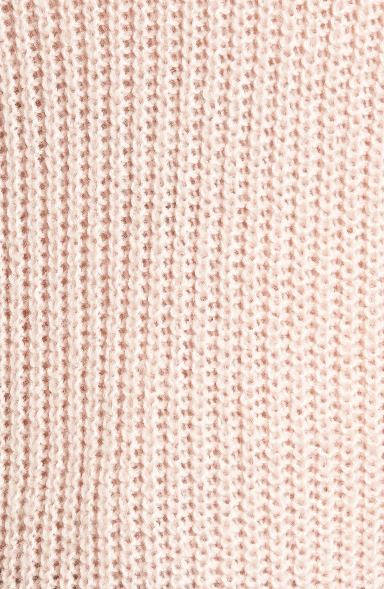 Lofty Off the Shoulder Pullover,                             Alternate thumbnail 5, color,                             Pink Smoke