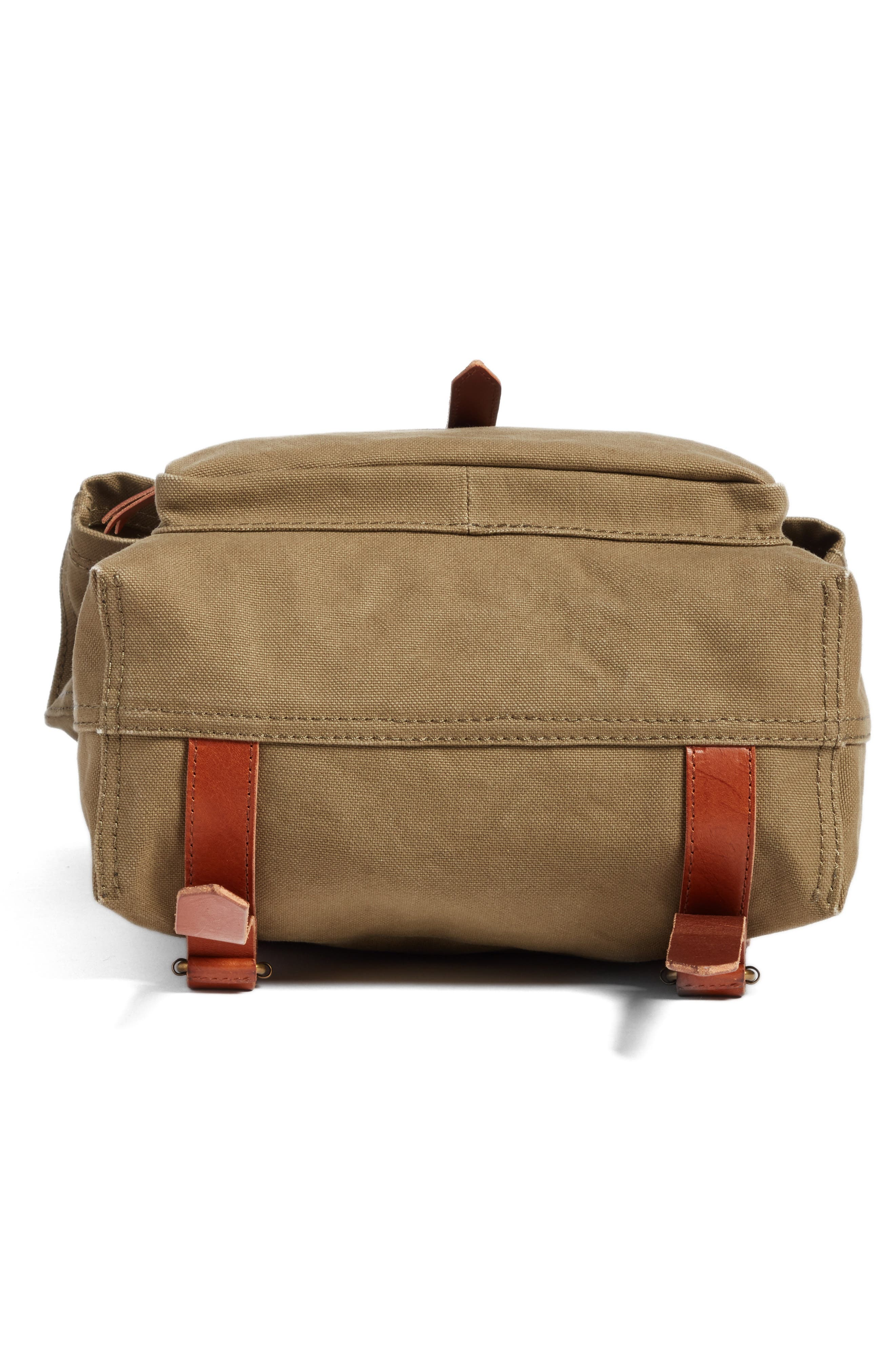 The Canvas Foldover Backpack,                             Alternate thumbnail 6, color,                             British Surplus