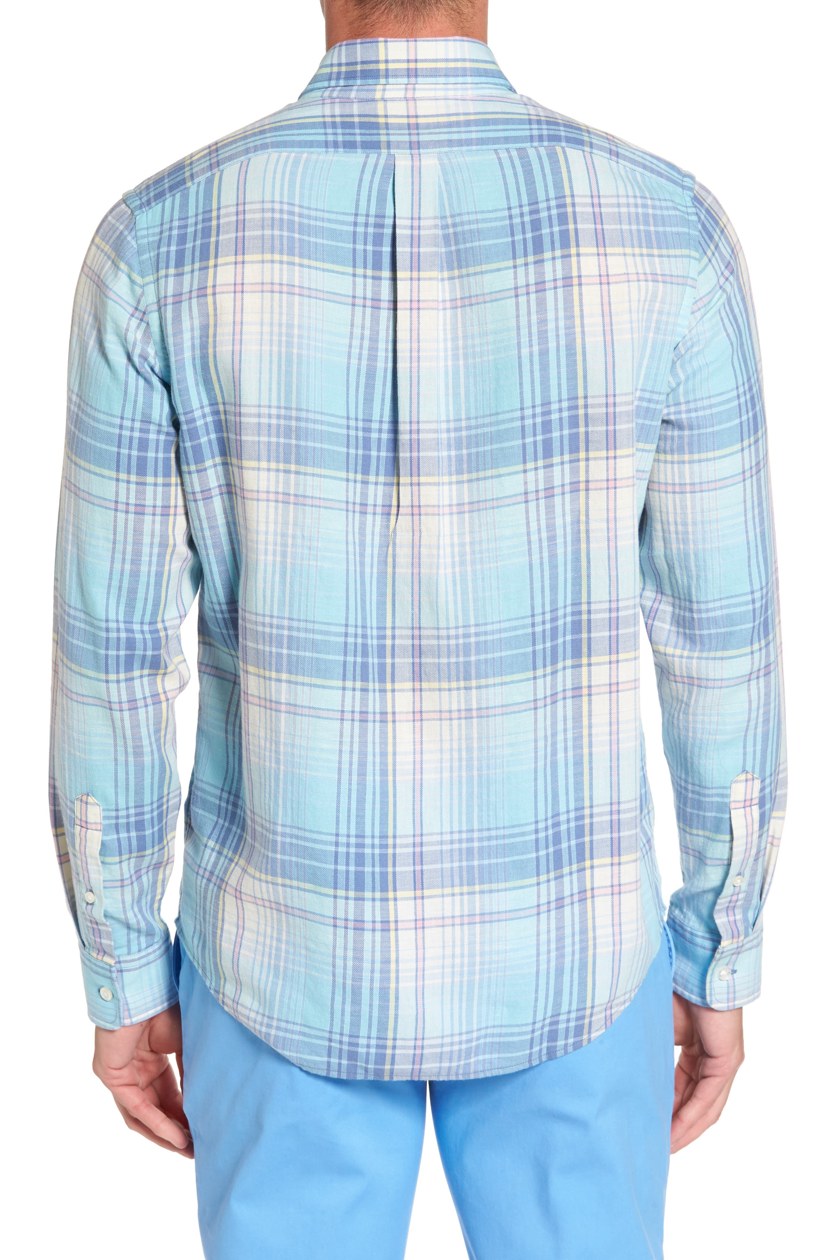 Alternate Image 2  - vineyard vines Pequot Plaid Slim Fit Tucker Sport Shirt