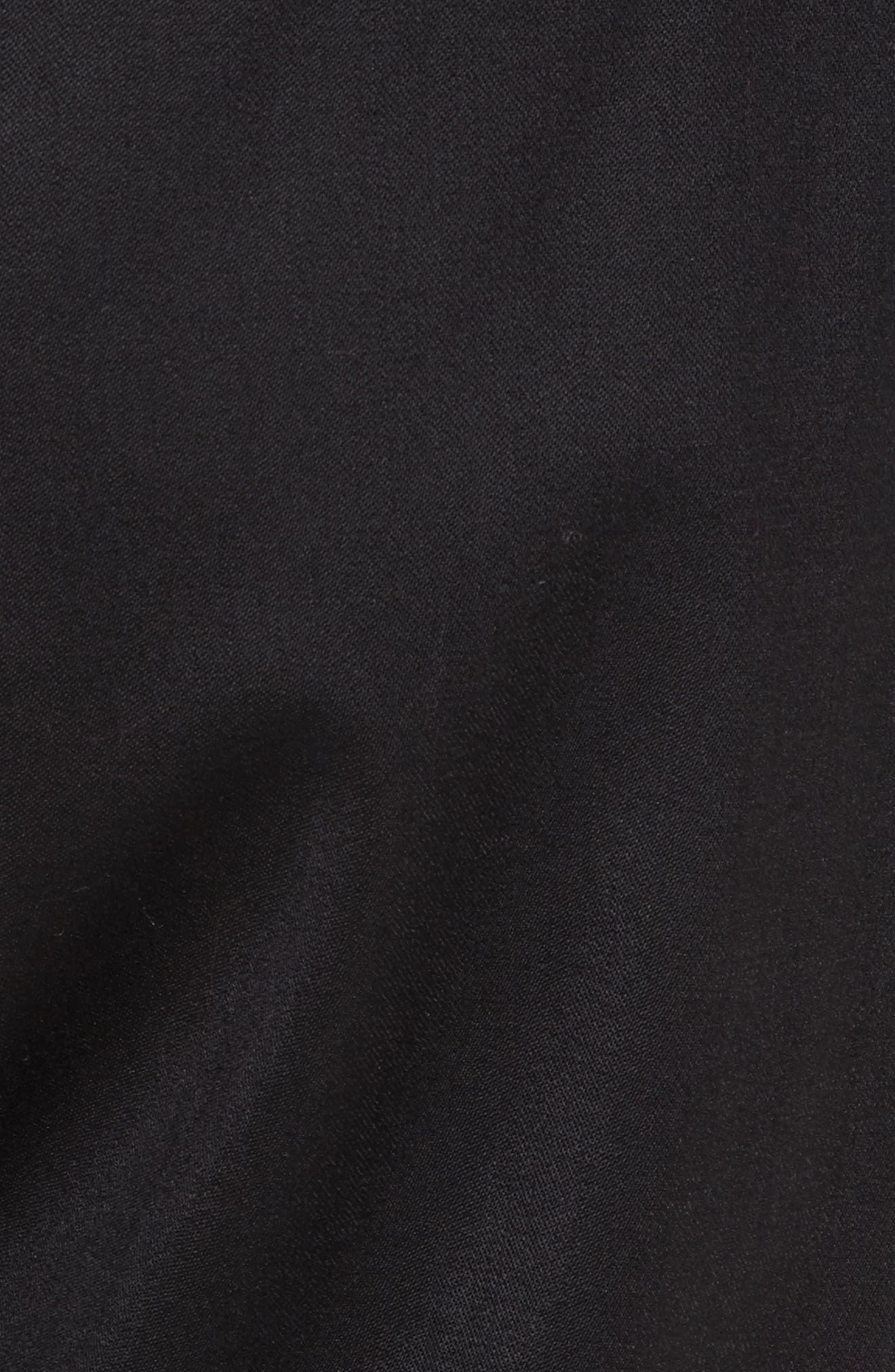 Italian Wool Gabardine Jogger Pants,                             Alternate thumbnail 6, color,                             Black