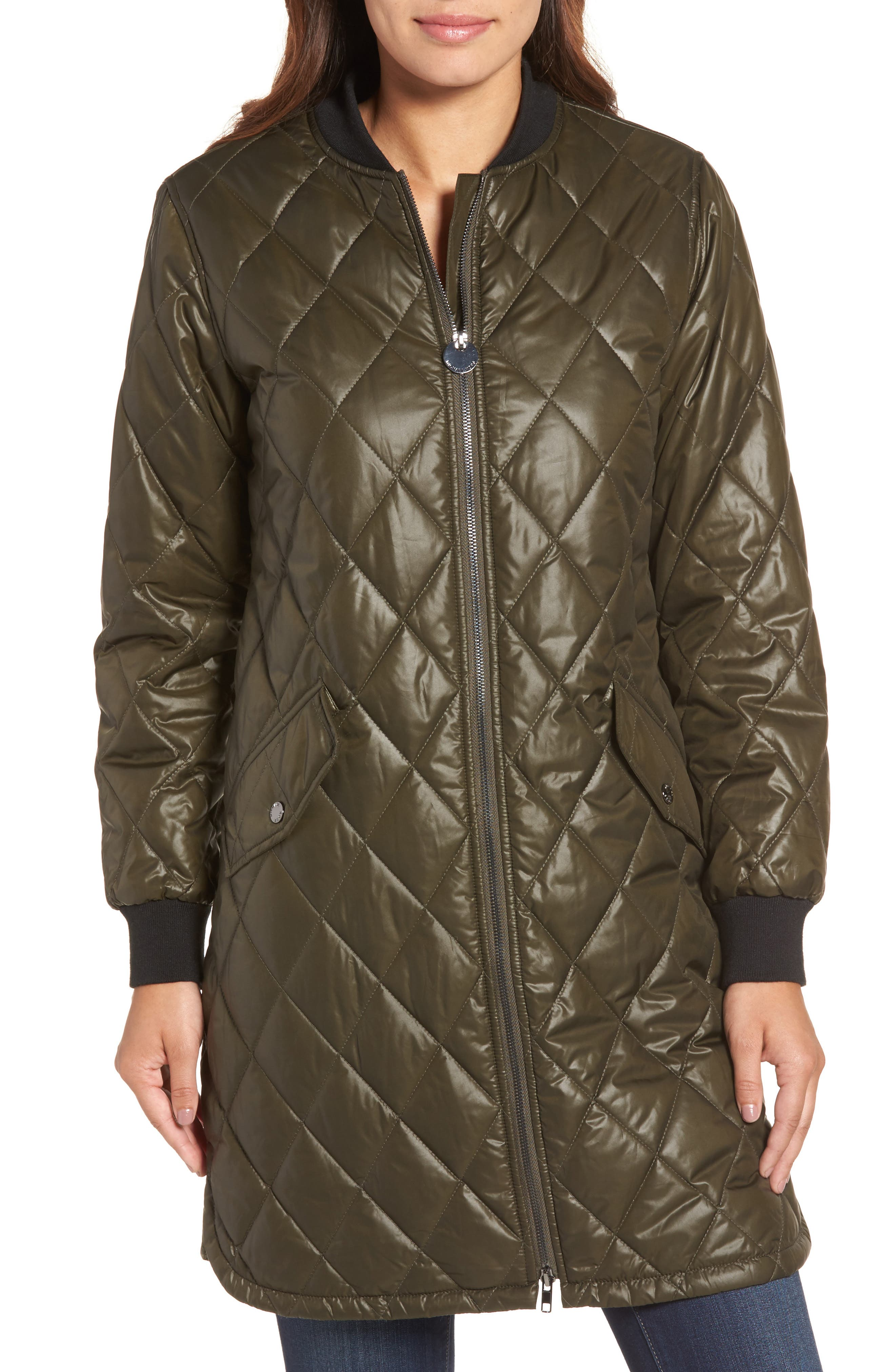 Quilted Jacket,                             Alternate thumbnail 4, color,                             Olive